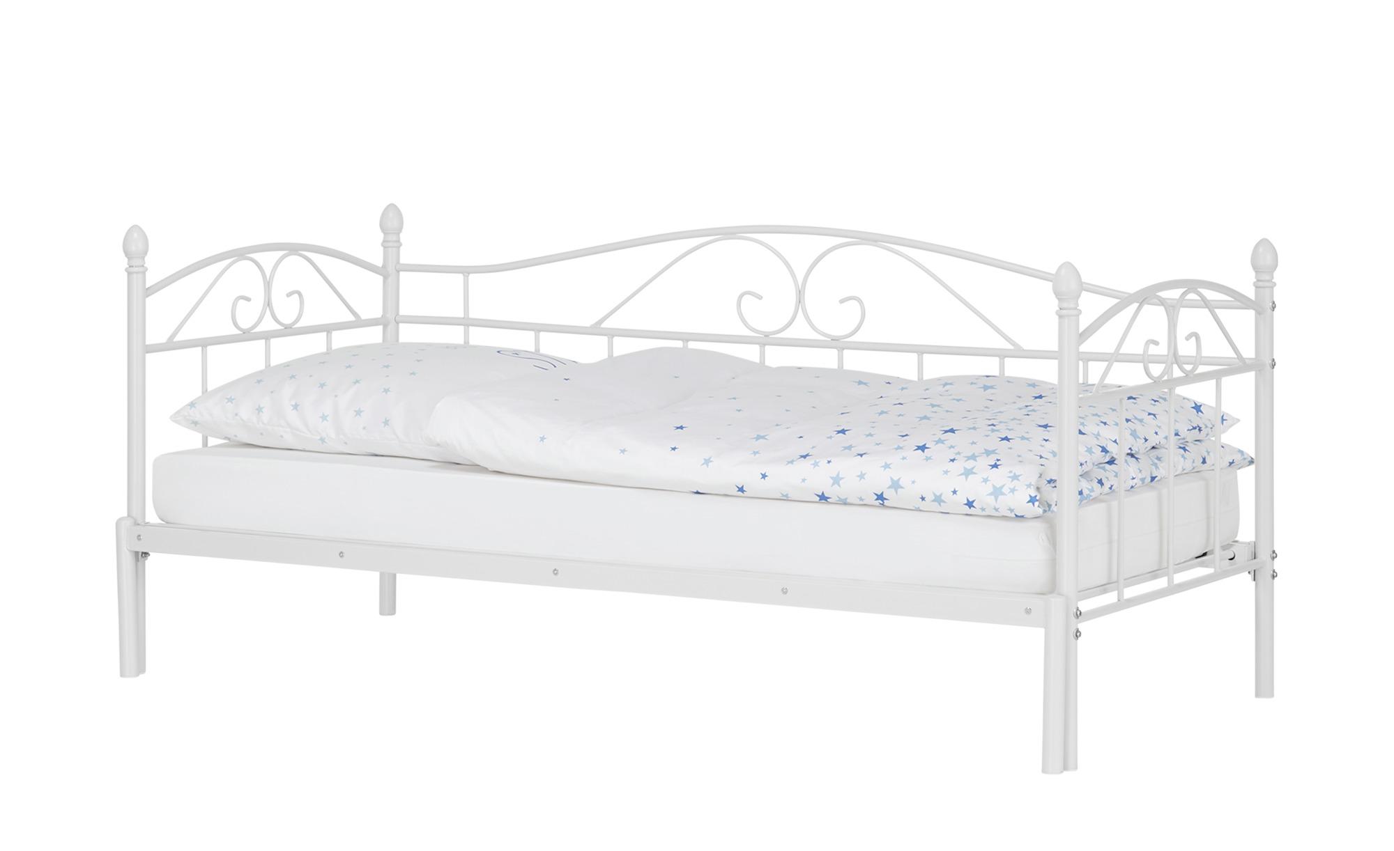 Tagesbett mit Auszug 180x200 - weiß Harrow ¦ weiß ¦ Maße (cm): B: 208 H: 91 T: 99,3 Betten > Metallbetten - Höffner