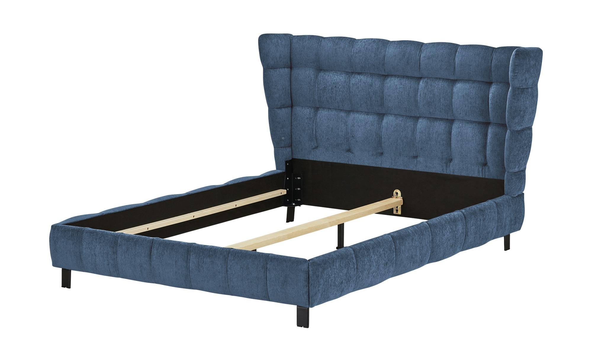 Polsterbettgestell 160x200 - blau Caterham ¦ blau ¦ Maße (cm): B: 188 H: 109 T: 214 Betten > Polsterbetten - Höffner