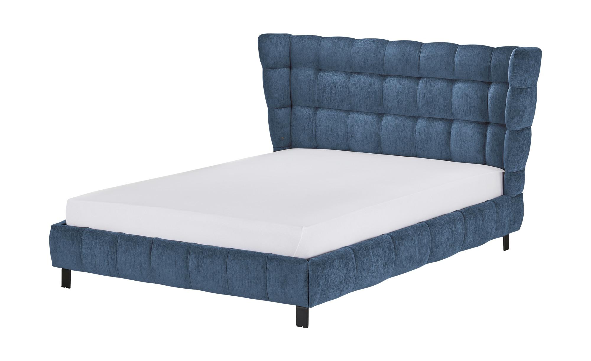 Polsterbettgestell 180x200 - blau Caterham ¦ blau ¦ Maße (cm): B: 208 H: 109 T: 214 Betten > Polsterbetten - Höffner