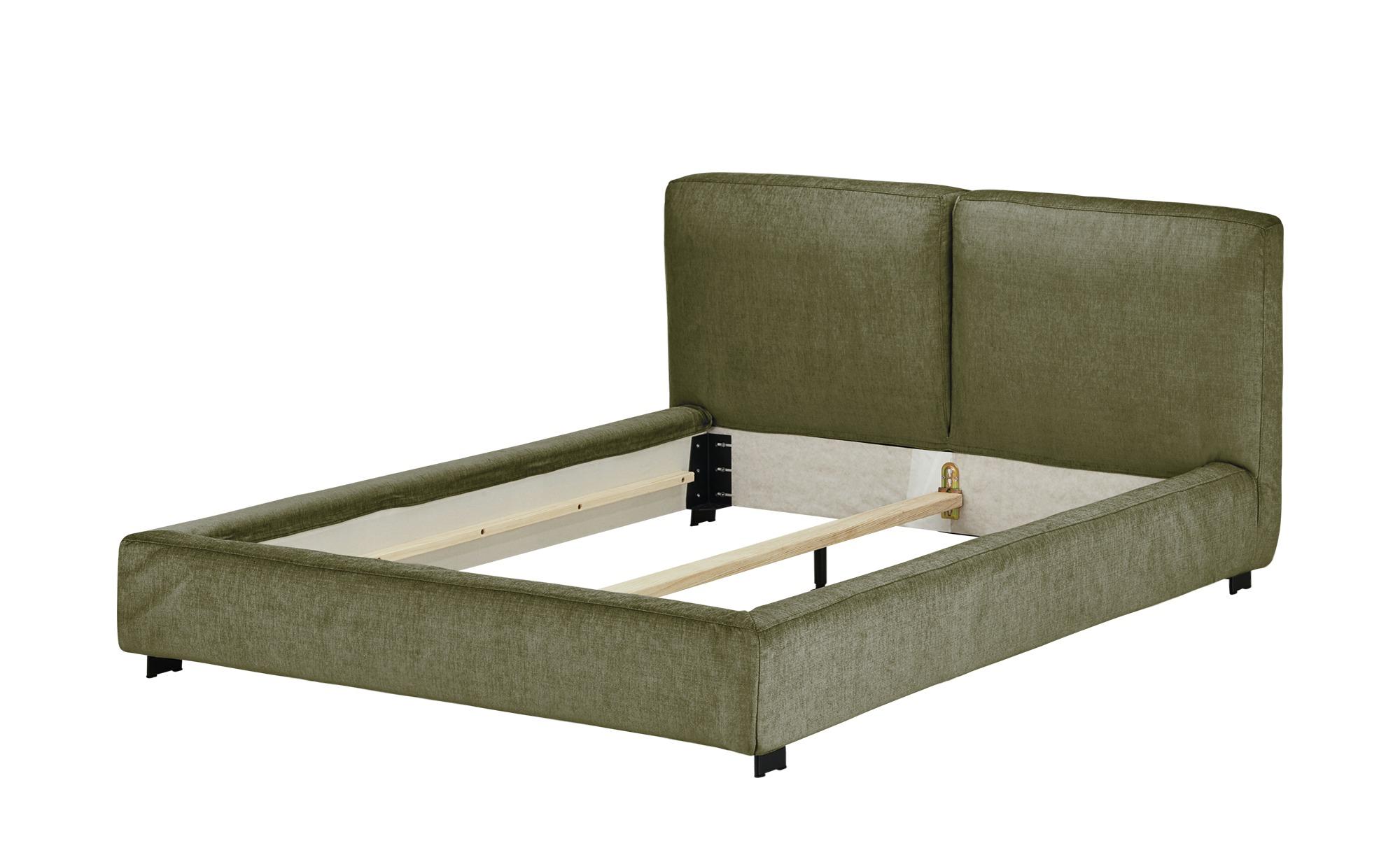 Polsterbettgestell 180x200 - grün Waltham ¦ grün ¦ Maße (cm): B: 208 H: 94 T: 226 Betten > Polsterbetten - Höffner