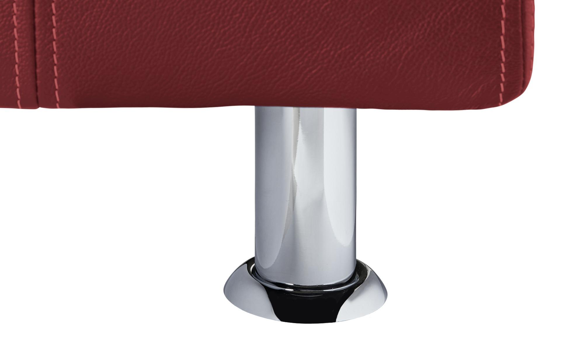Boxspringbett 160x200 - rot - Leder Bella II | Weinrot, 160 cm
