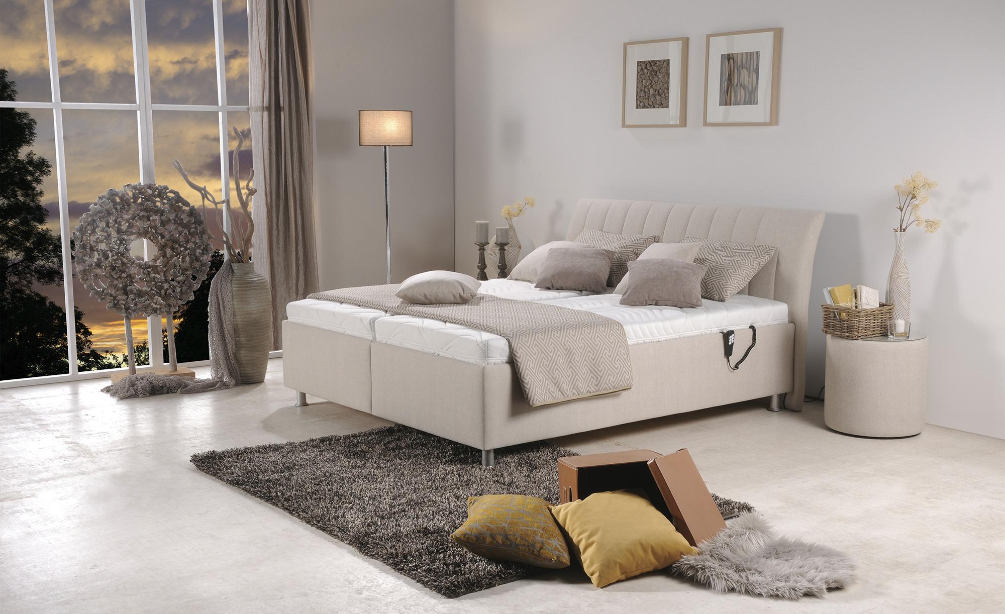 Polsterbett  Arezzo ¦ beige ¦ Maße (cm): B: 195 H: 106 Betten > Polsterbetten - Höffner
