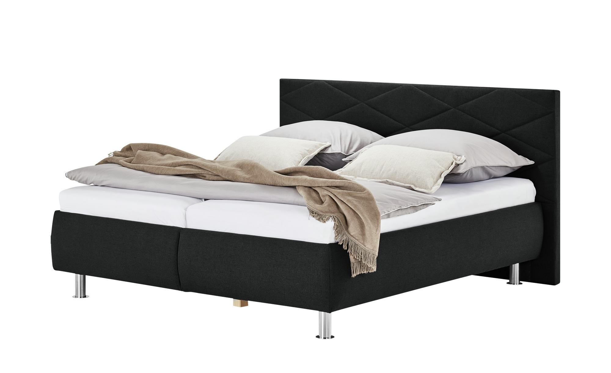 Polsterbett  Kos ¦ schwarz ¦ Maße (cm): B: 180 H: 112 Betten > Polsterbetten - Höffner