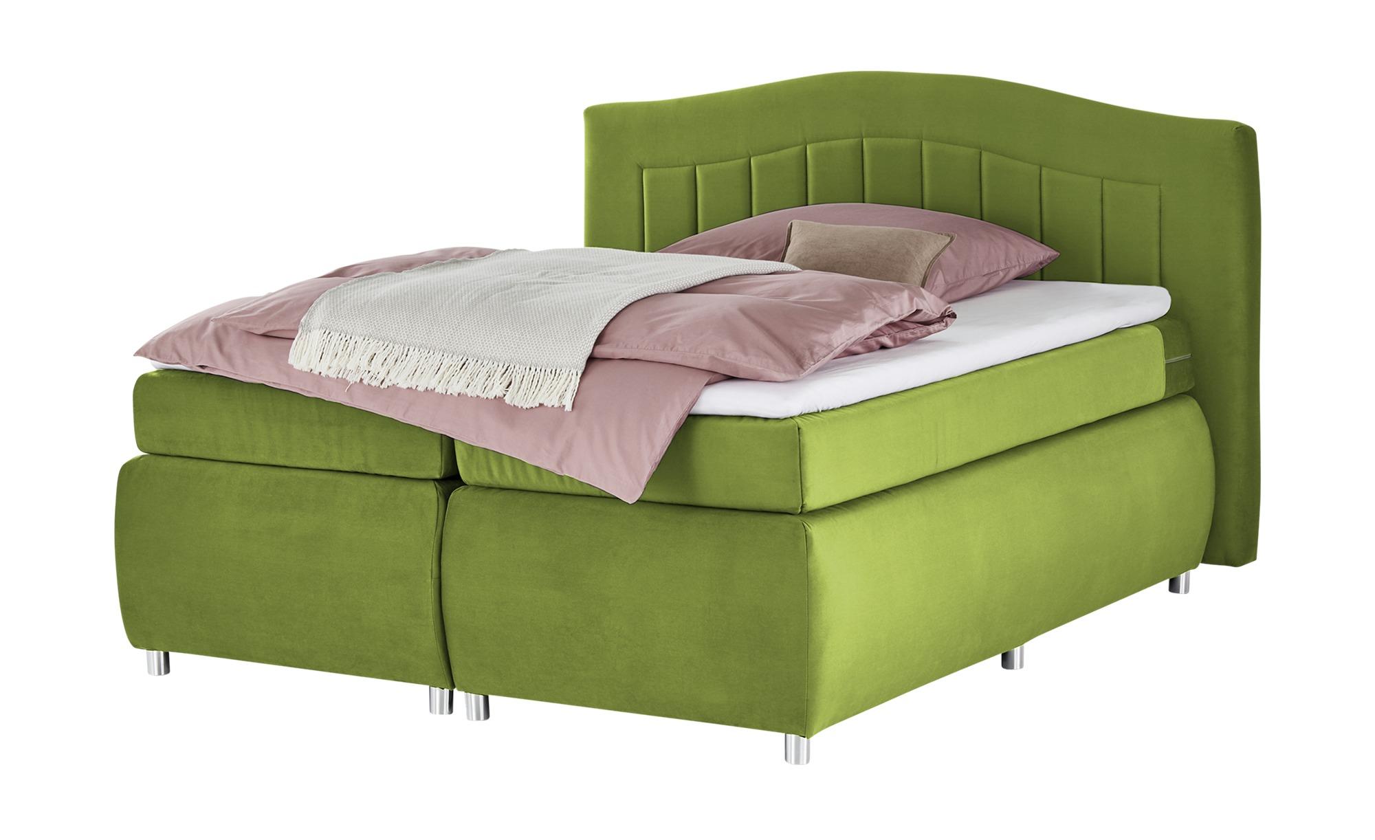 Boxspringbett  Duchess ¦ grün ¦ Maße (cm): B: 180 H: 116 T: 210 Betten > Boxspringbetten > Boxspringbetten 160x200 - Höffner