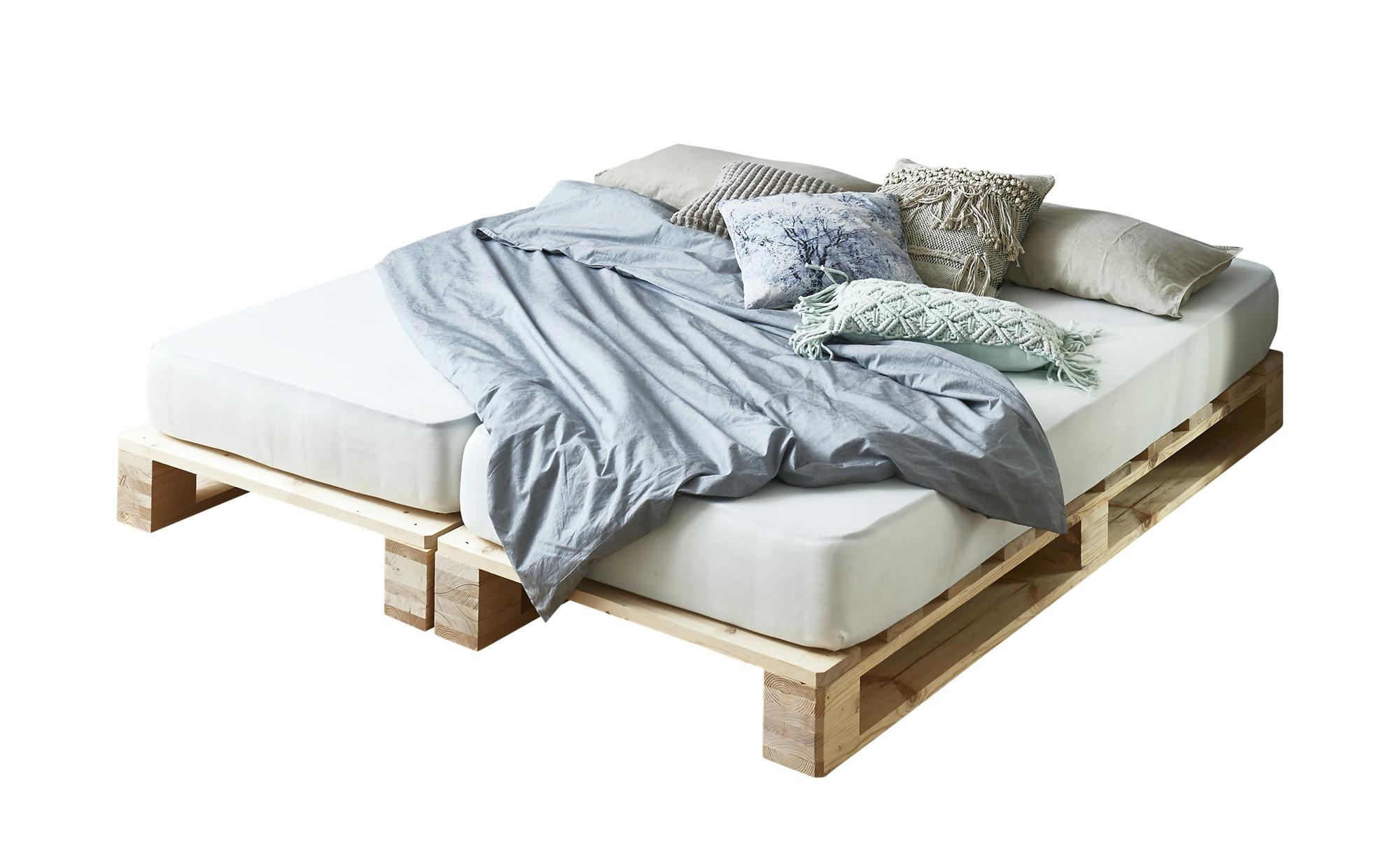 Palettenbett Mit Matratze Havering Holzfarben Maße Cm B 90 H 39 T 200 Betten Futonbetten Höffner