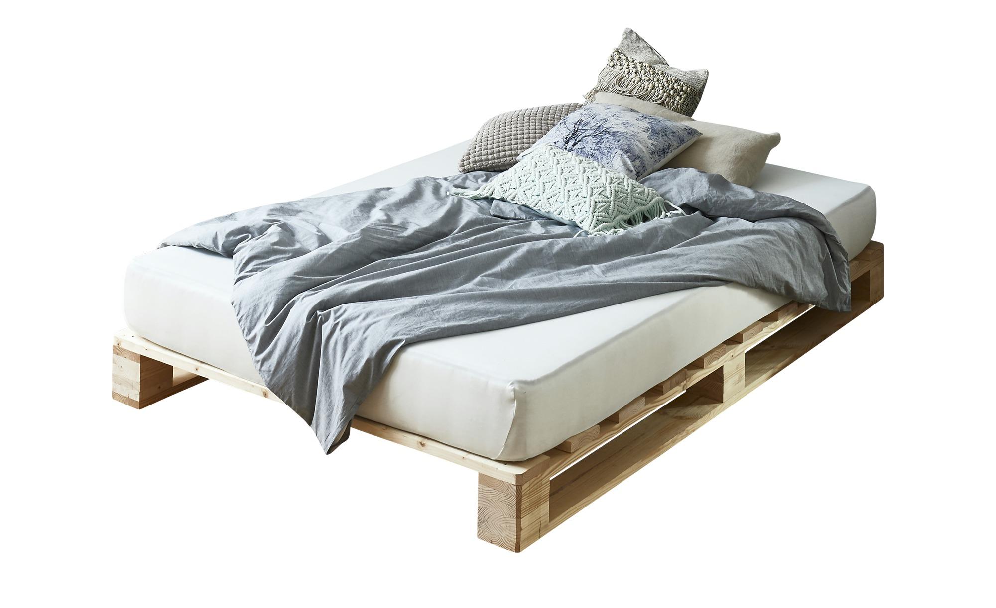 Palettenbett mit Matratze  Havering ¦ holzfarben ¦ Maße (cm): B: 140 H: 39 T: 200 Betten > Futonbetten - Höffner