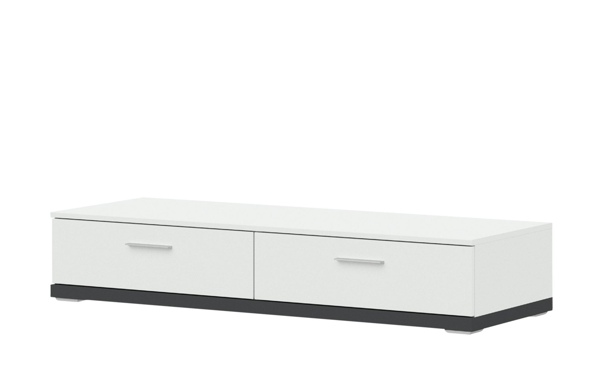 uno Lowboard  Titan ¦ weiß ¦ Maße (cm): B: 141 H: 27 T: 50 Kommoden & Sideboards > Lowboards - Höffner
