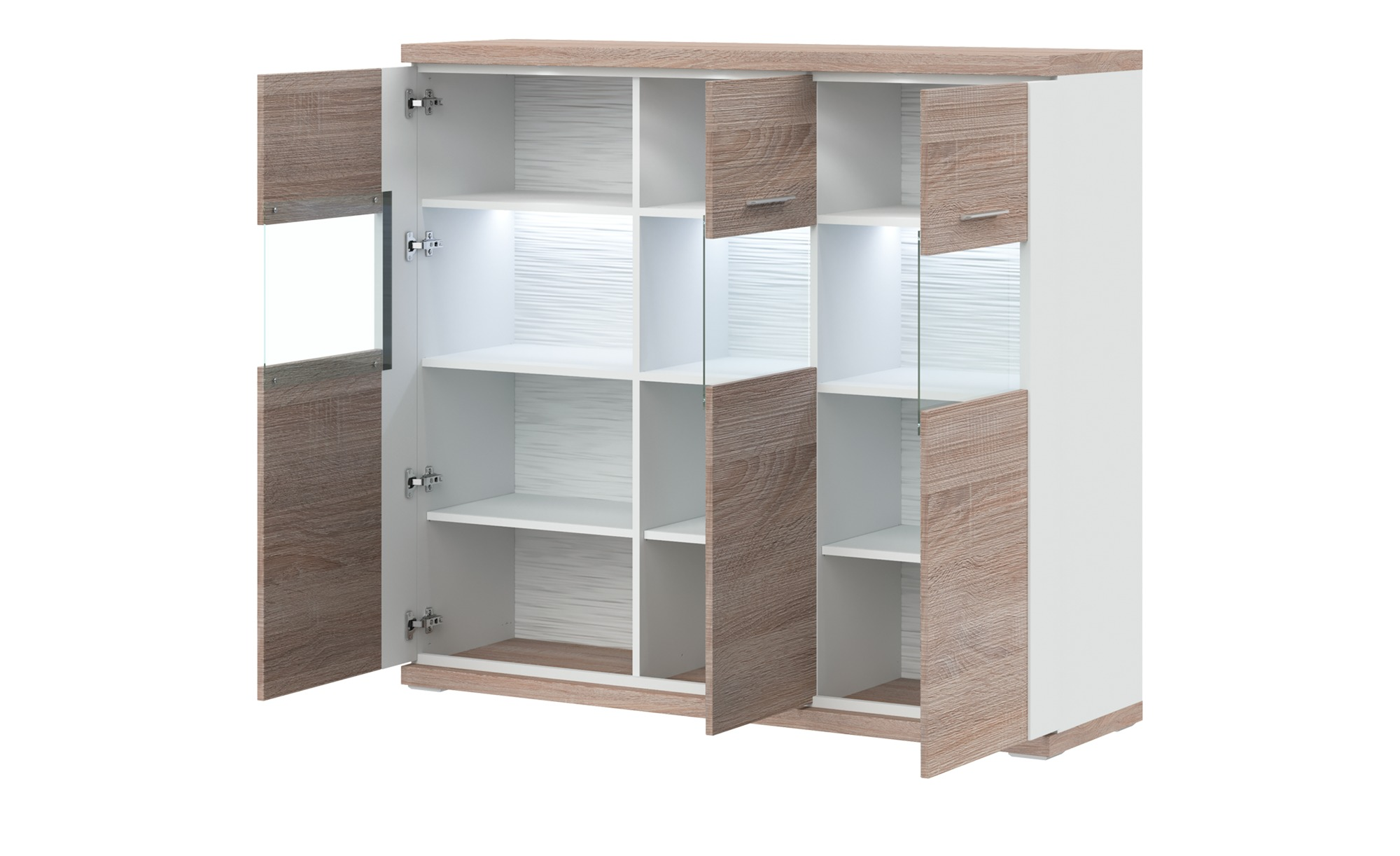 uno Highboard   Titan ¦ Maße (cm): B: 146 H: 131 T: 42 Kommoden & Sideboards > Highboards - Höffner