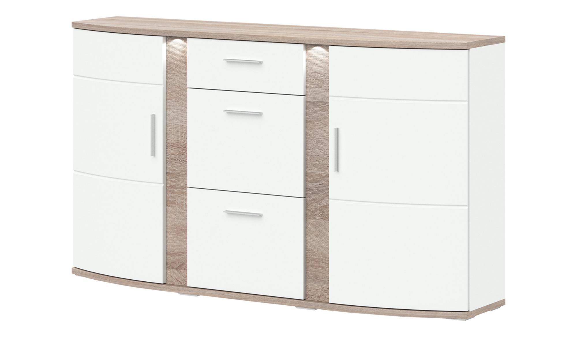 uno Sideboard   Gabbro ¦ weiß ¦ Maße (cm): B: 164 H: 94 T: 41 Kommoden & Sideboards > Sideboards - Höffner