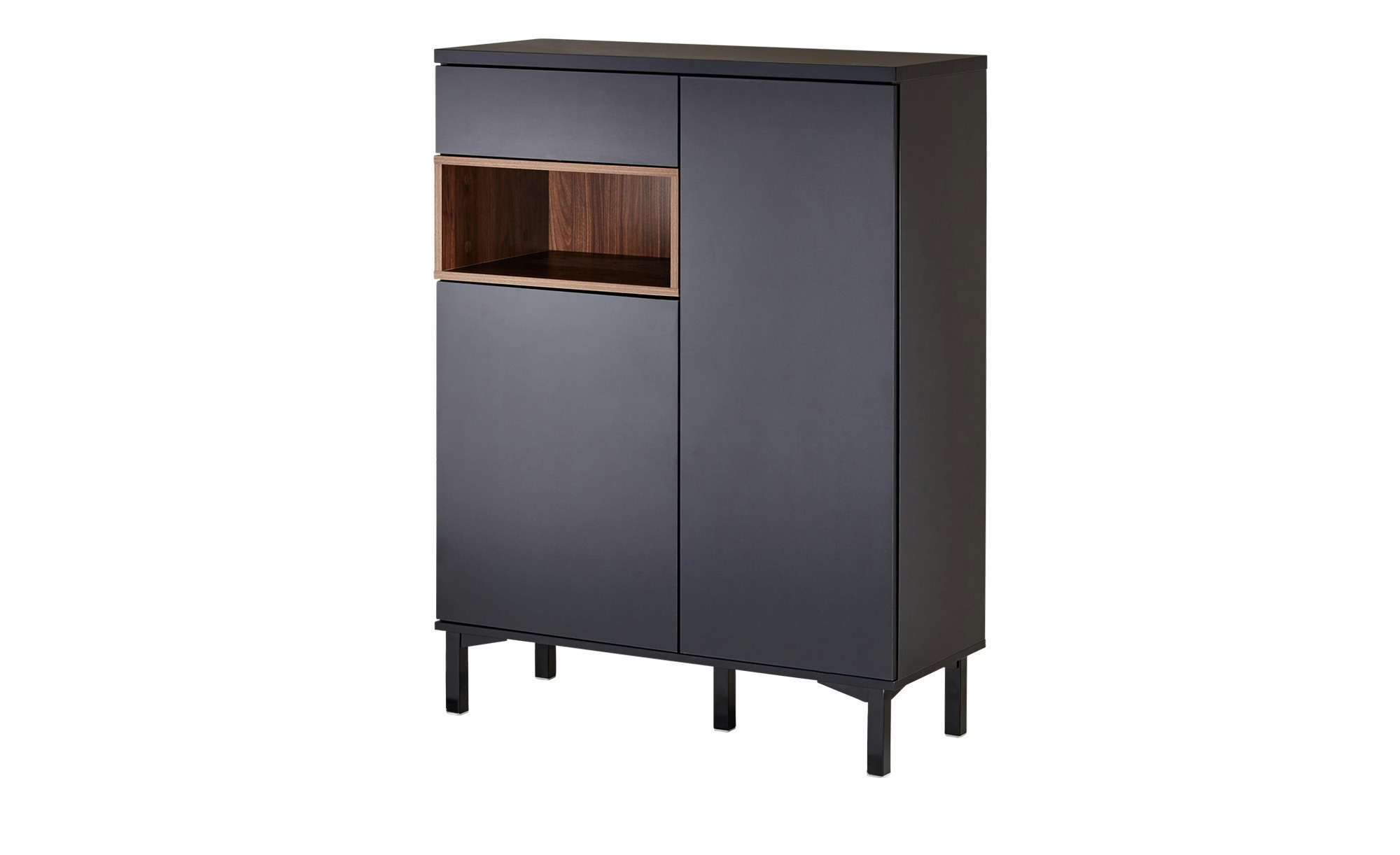 Roomers Highboard  Case ¦ schwarz ¦ Maße (cm): B: 90 H: 120 T: 36 Kommoden & Sideboards > Kommoden - Höffner