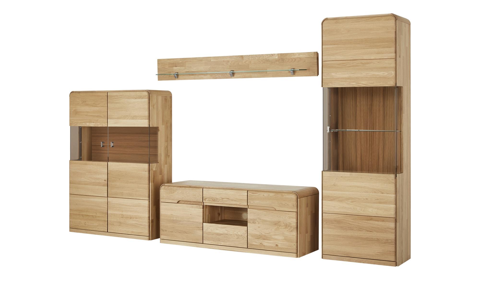 Woodford Wohnwand Merano Holzfarben Maße Cm B 317 H 204 T