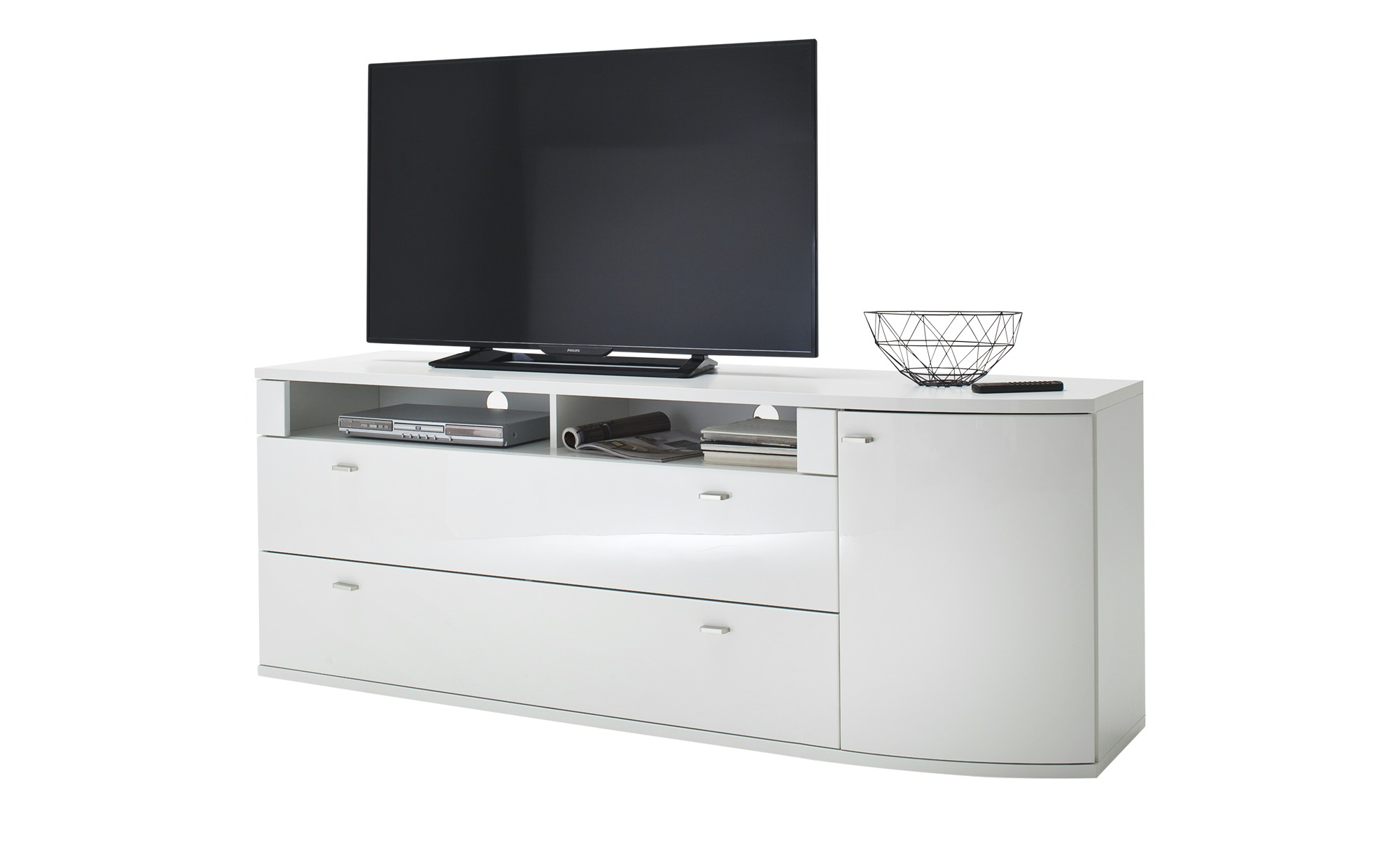 uno TV-Element   Livorno ¦ weiß ¦ Maße (cm): B: 184 H: 69 T: 48 TV- & Media Möbel > TV-Racks - Höffner