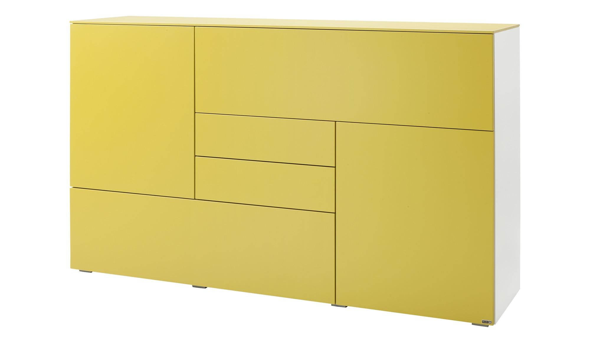 Gallery M Highboard  Merano ¦ gelb ¦ Maße (cm): B: 180 H: 109 T: 48 Kommoden & Sideboards > Highboards - Höffner