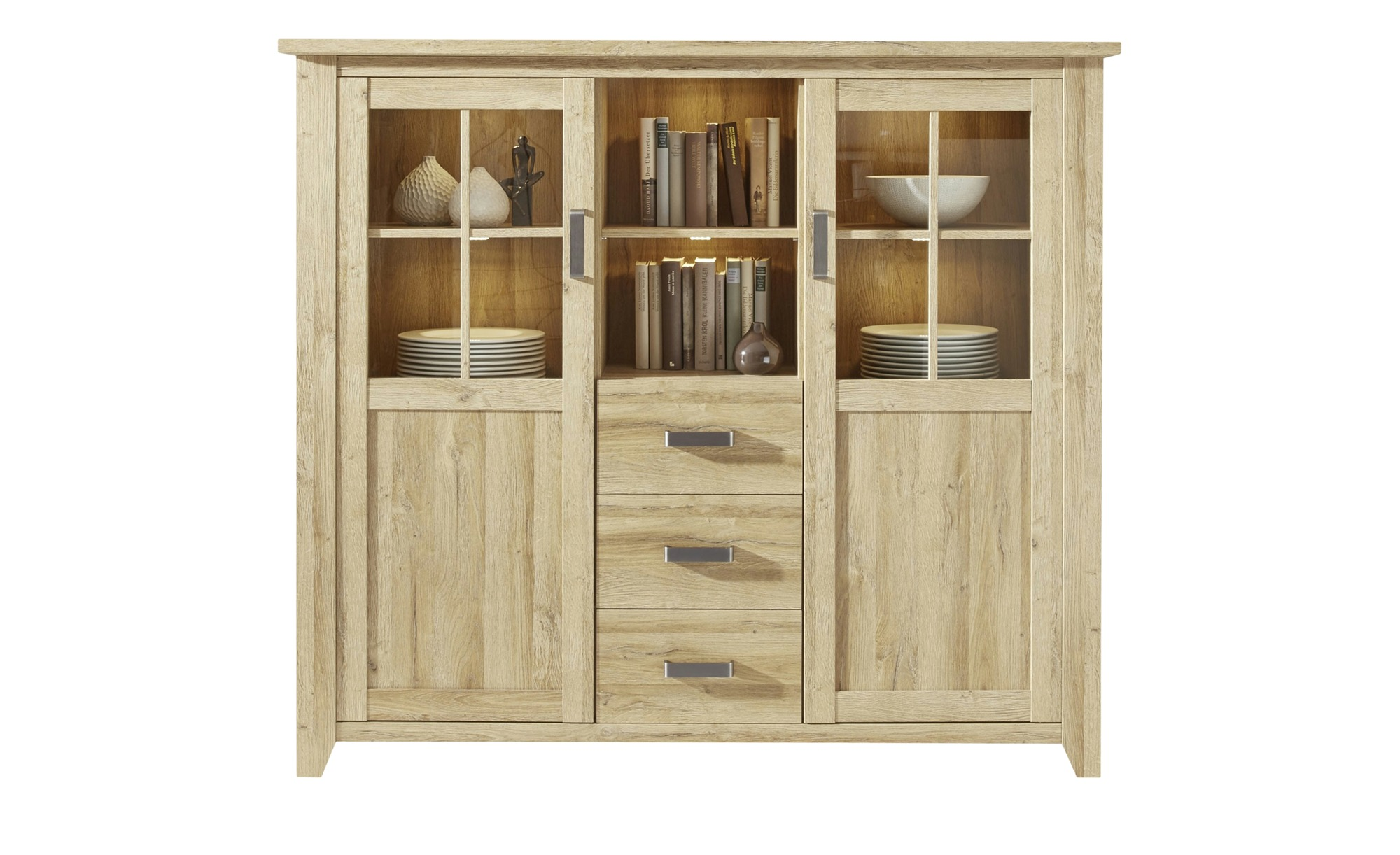 Highboard  Cosenza ¦ holzfarben ¦ Maße (cm): B: 163 H: 145 T: 42 Kommoden & Sideboards > Highboards - Höffner