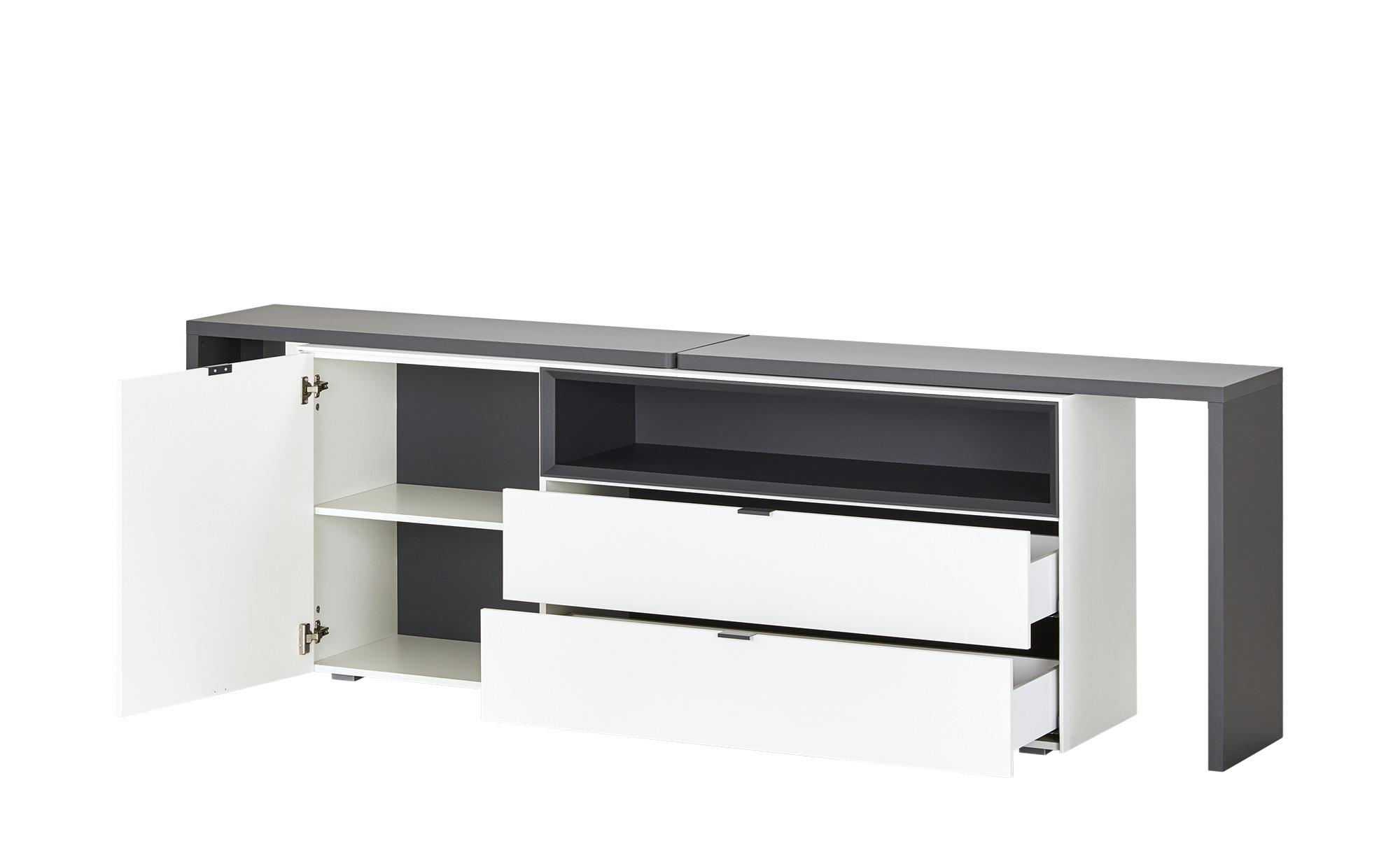 Sideboard  mit Schreibtischfunktion  Salerno ¦ weiß ¦ Maße (cm): B: 240 H: 77 T: 41 Kommoden & Sideboards > Sideboards - Höffner