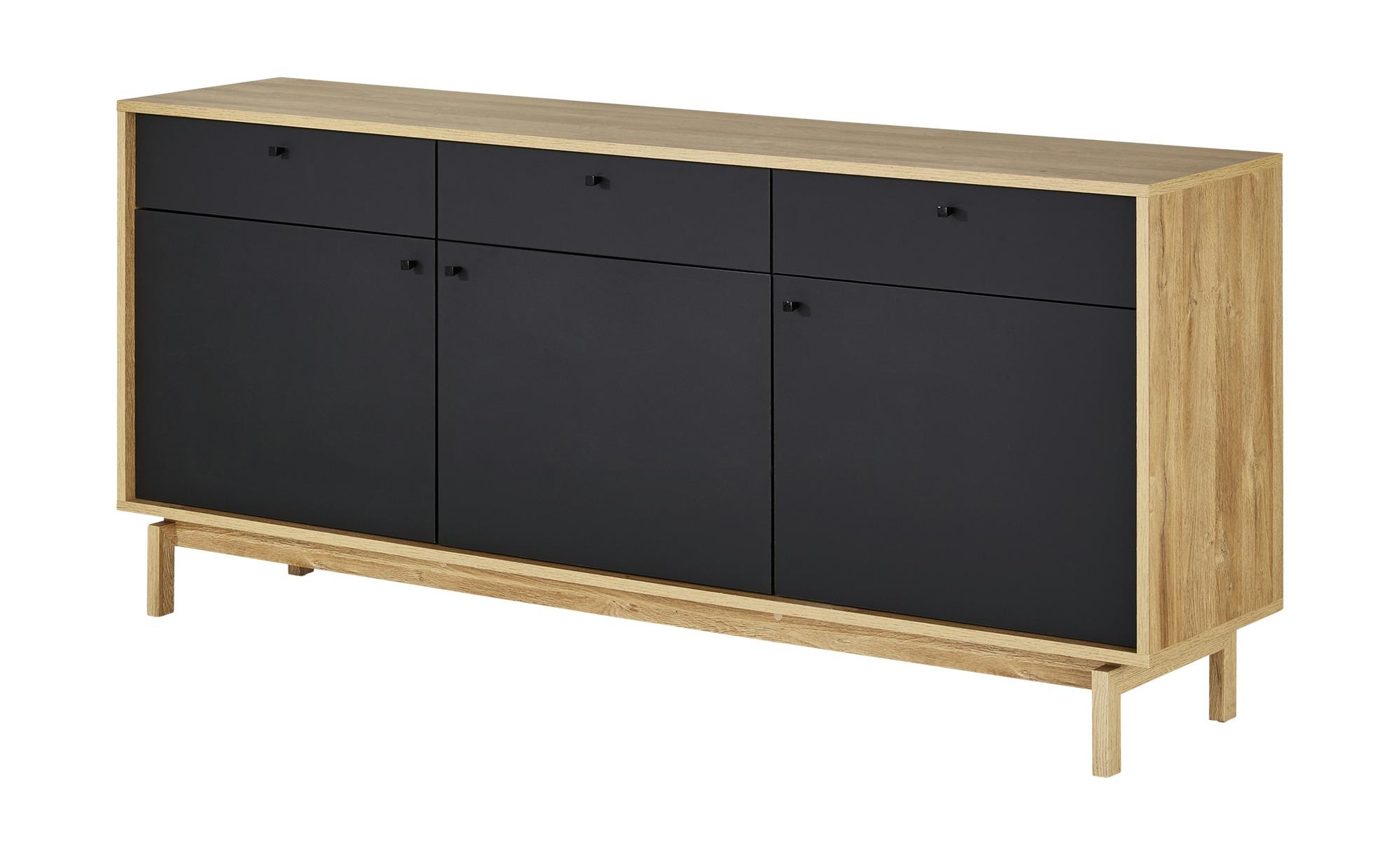 Sideboard  Triest ¦ schwarz ¦ Maße (cm): B: 186 H: 85 T: 42 Kommoden & Sideboards > Sideboards - Höffner