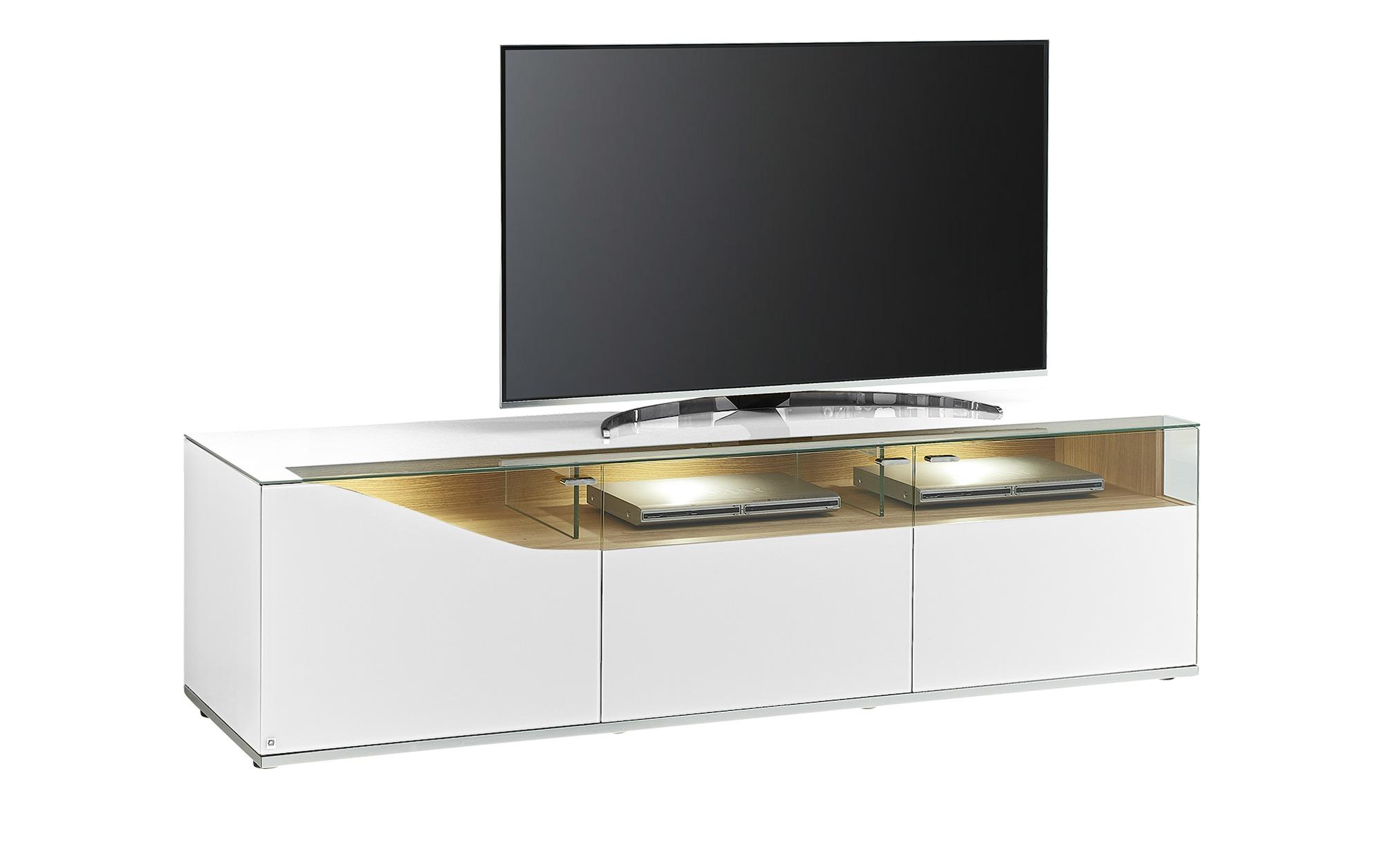 LEONARDO TV-Lowboard  Leonardo Curve ¦ weiß ¦ Maße (cm): B: 195 H: 53 T: 52 TV- & Media Möbel > TV-Racks - Höffner