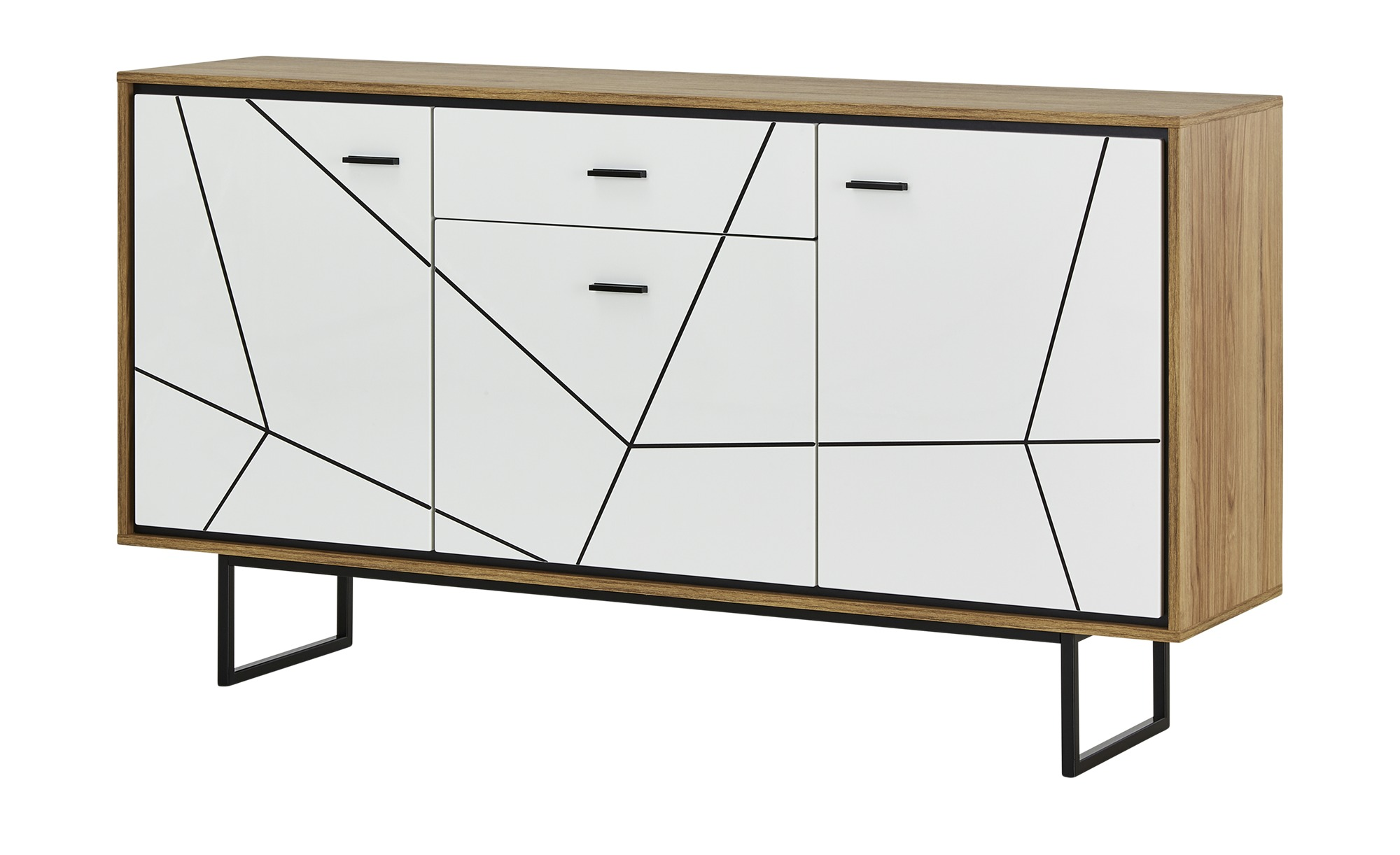 Sideboard  Arezzo ¦ weiß ¦ Maße (cm): B: 167 H: 90,3 T: 40 Kommoden & Sideboards > Sideboards - Höffner
