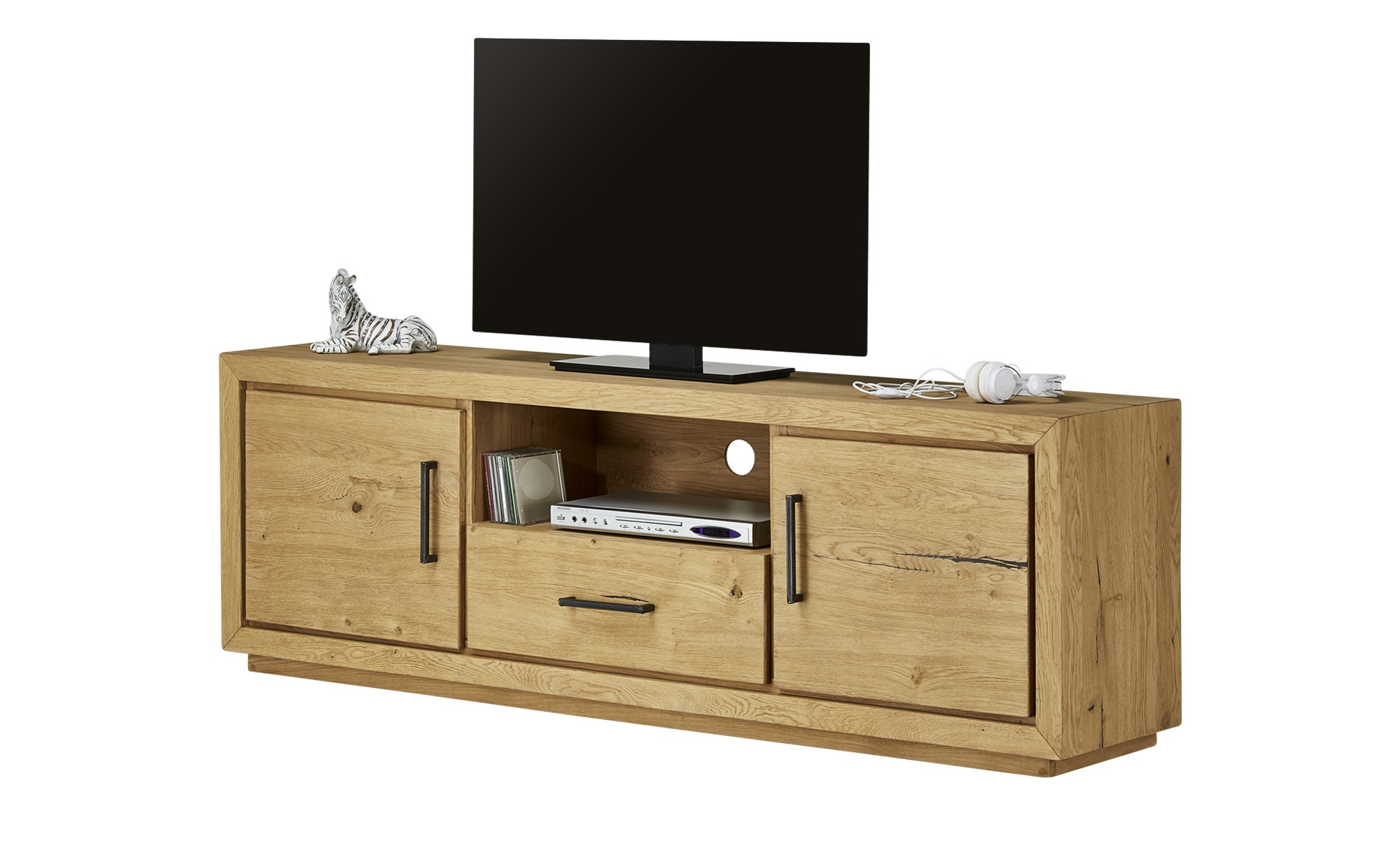 Gray & Jones TV-Lowboard  Black Coast ¦ holzfarben ¦ Maße (cm): B: 180 H: 60 T: 42 TV- & Media Möbel > TV-Racks - Höffner