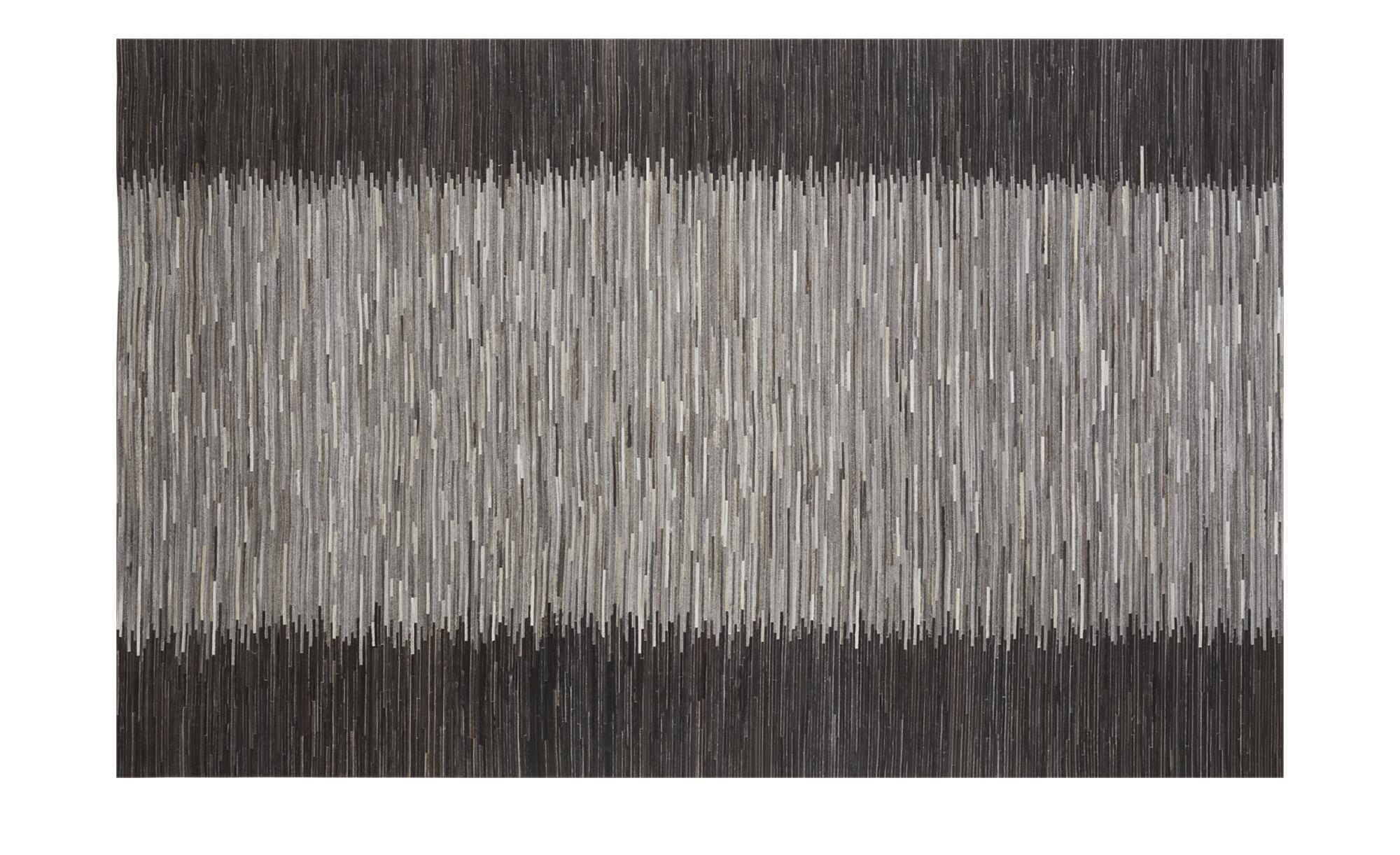 Gray & Jones Lederteppich ¦ schwarz ¦ Maße (cm): B: 200 Teppiche > Wohnteppiche - Höffner