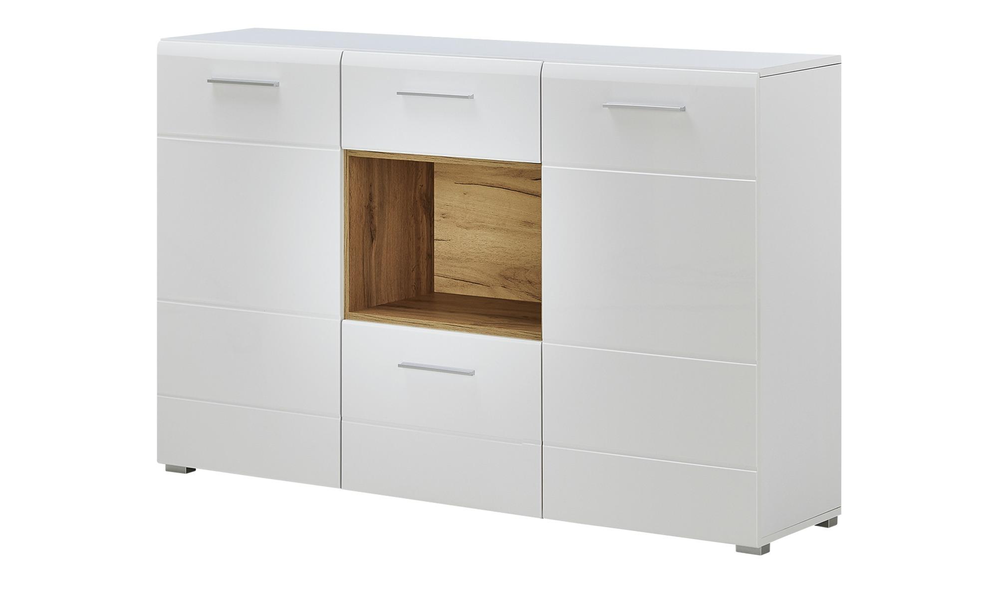 Sideboard  Monaci ¦ weiß ¦ Maße (cm): B: 151 H: 96 T: 36 Kommoden & Sideboards > Sideboards - Höffner
