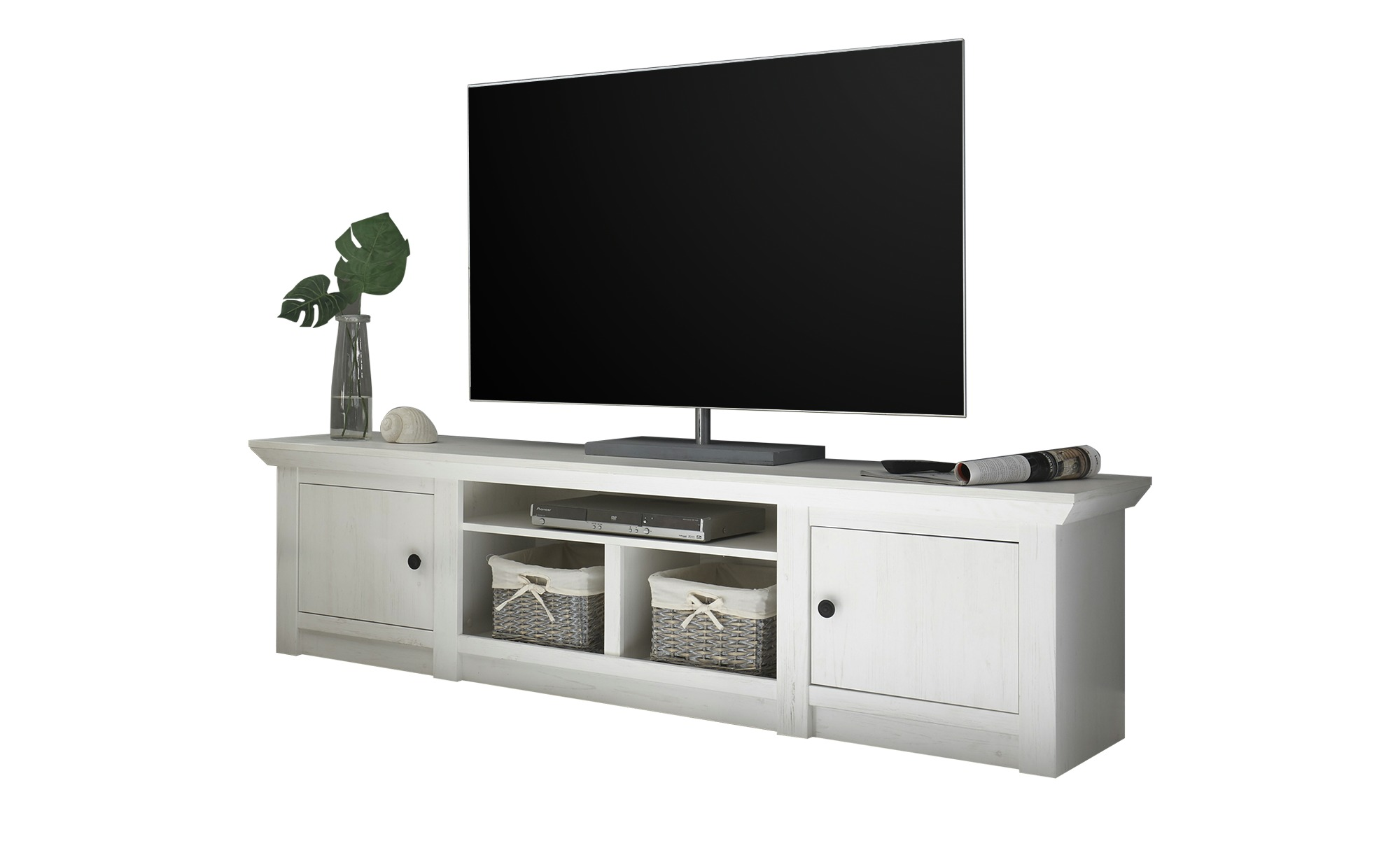 TV-Lowboard  Atina ¦ weiß ¦ Maße (cm): B: 194 H: 51 T: 45 Kommoden & Sideboards > Lowboards - Höffner