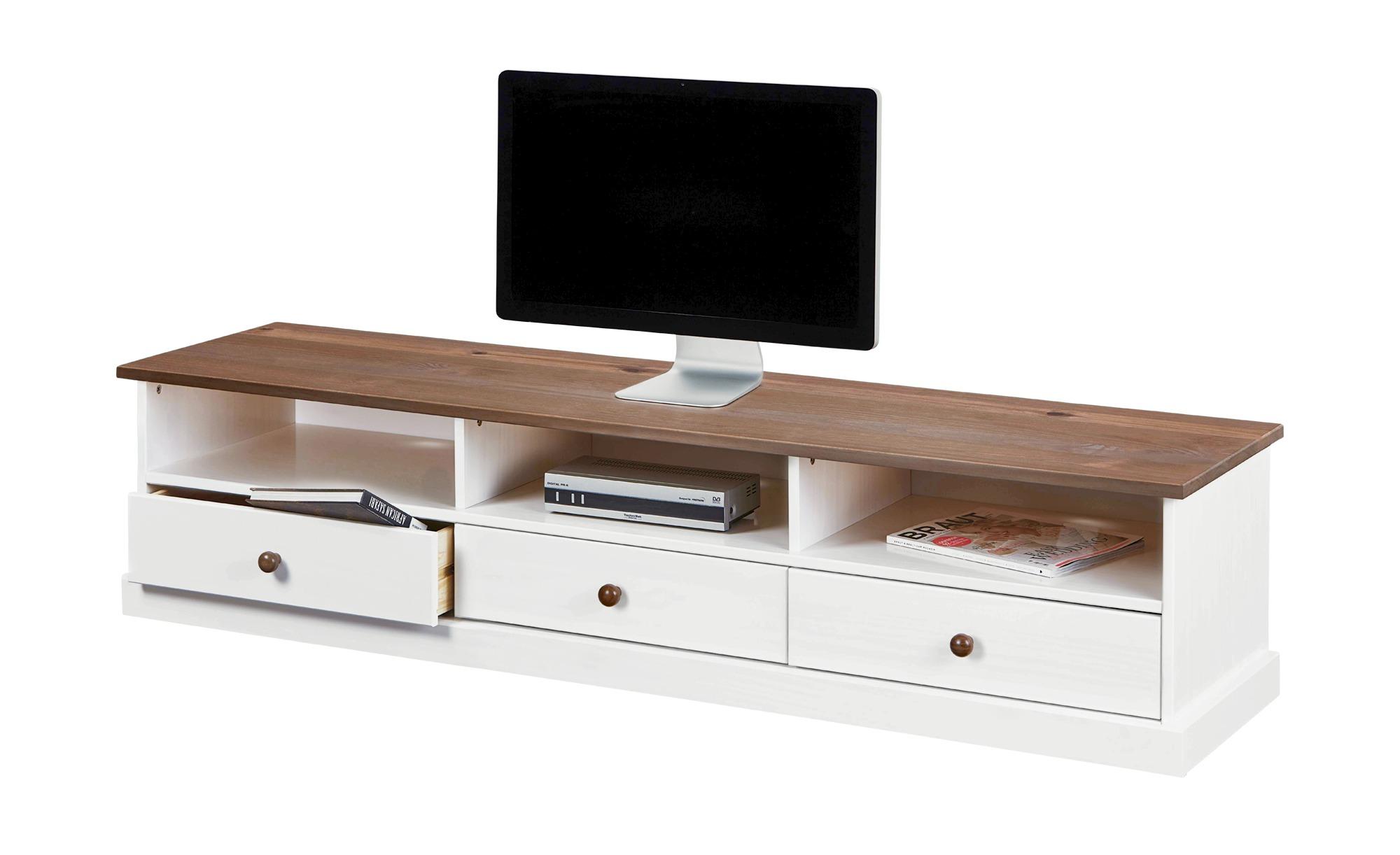 TV-Board  Muslone ¦ weiß ¦ Maße (cm): B: 180 H: 41 T: 45,5 TV- & Media Möbel > TV-Racks - Höffner