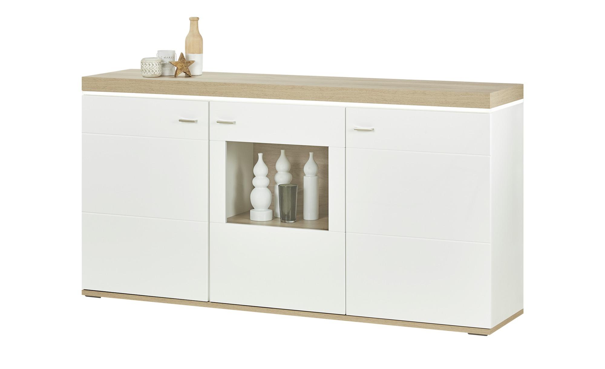 uno Sideboard   Karbo ¦ weiß ¦ Maße (cm): B: 181 H: 95 T: 42 Kommoden & Sideboards > Sideboards - Höffner