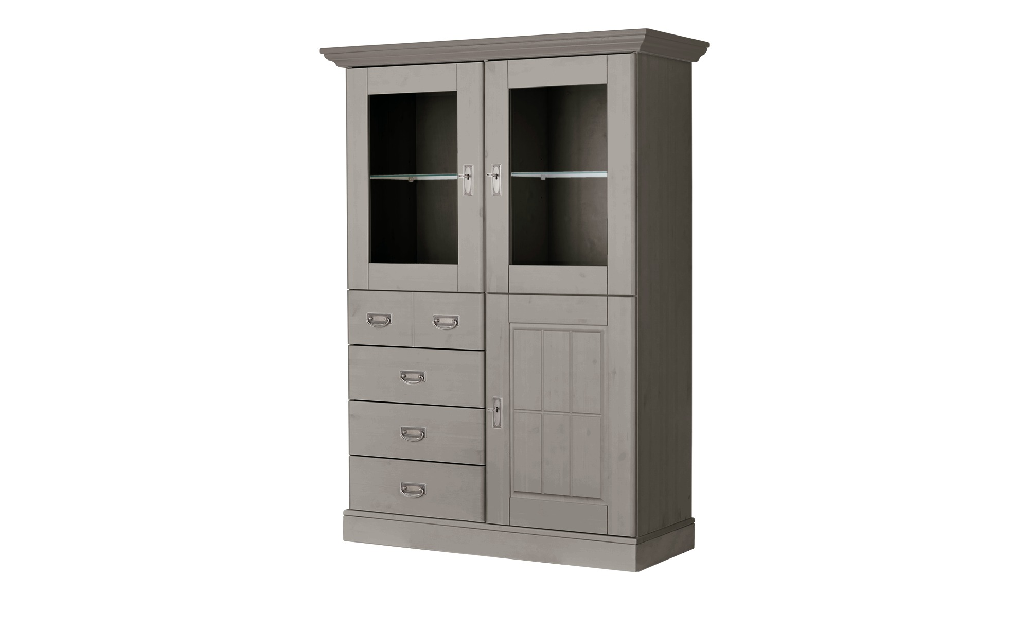 maison bleue Highboard  Florian ¦ weiß ¦ Maße (cm): B: 118,5 H: 163,5 T: 48 Kommoden & Sideboards > Highboards - Höffner