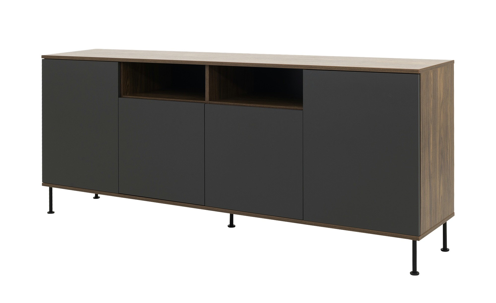 Sideboard  Daxx ¦ grau ¦ Maße (cm): B: 217 H: 90 T: 43 Kommoden & Sideboards > Sideboards - Höffner