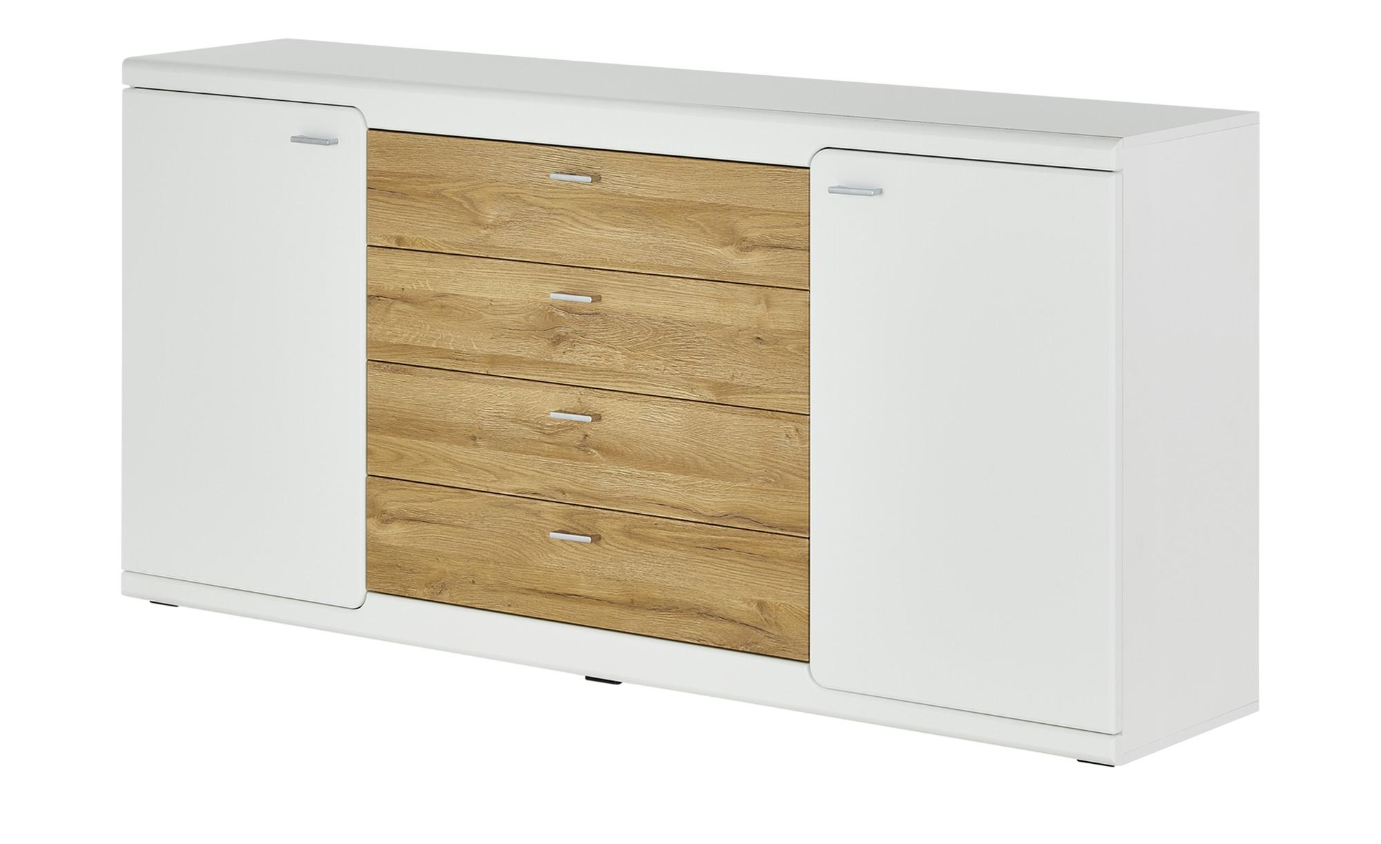 uno Sideboard  Genau ¦ weiß ¦ Maße (cm): B: 180 H: 86 T: 40 Kommoden & Sideboards > Sideboards - Höffner