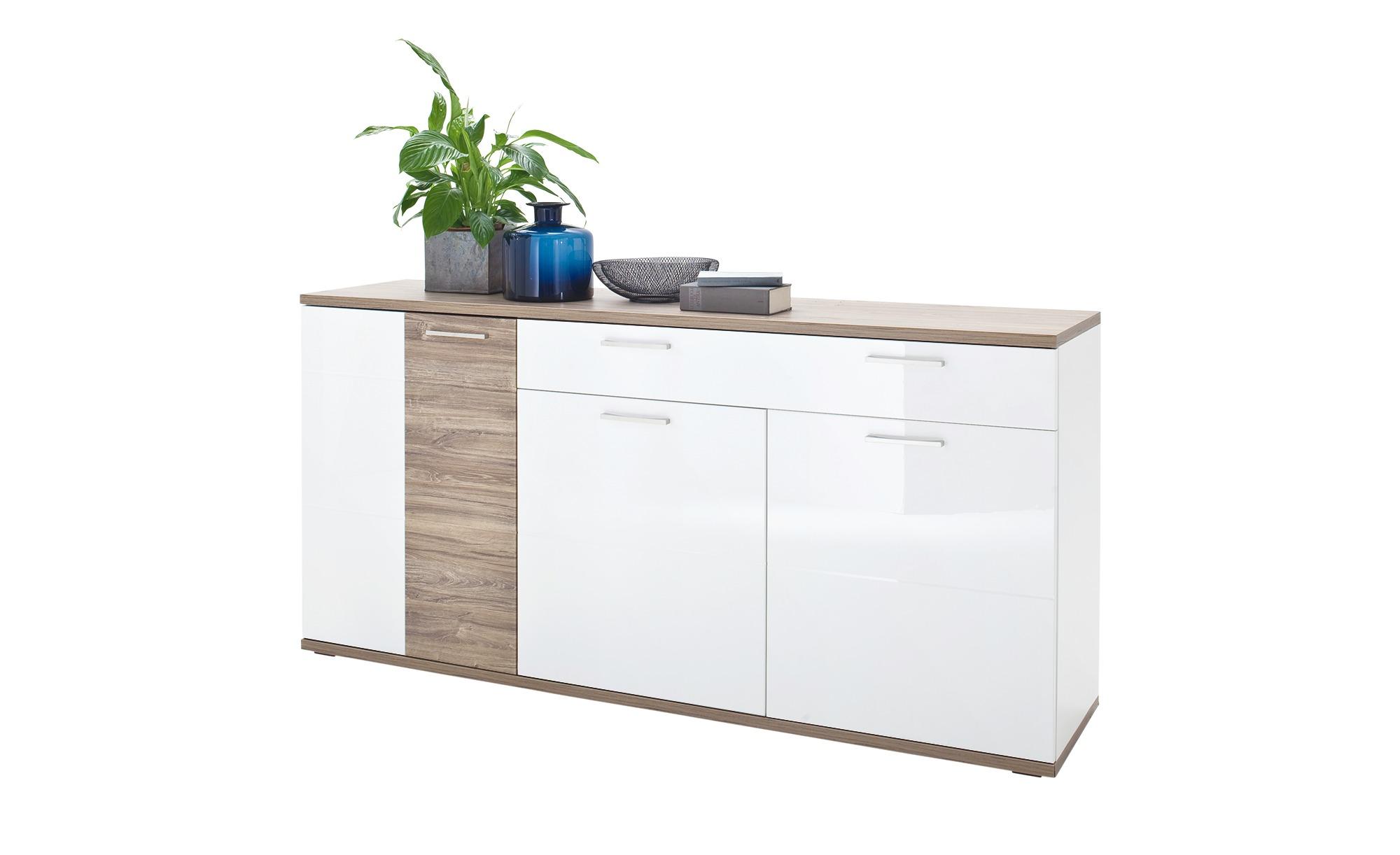 Sideboard  Zypern ¦ weiß ¦ Maße (cm): B: 180 H: 86 T: 43 Kommoden & Sideboards > Sideboards - Höffner