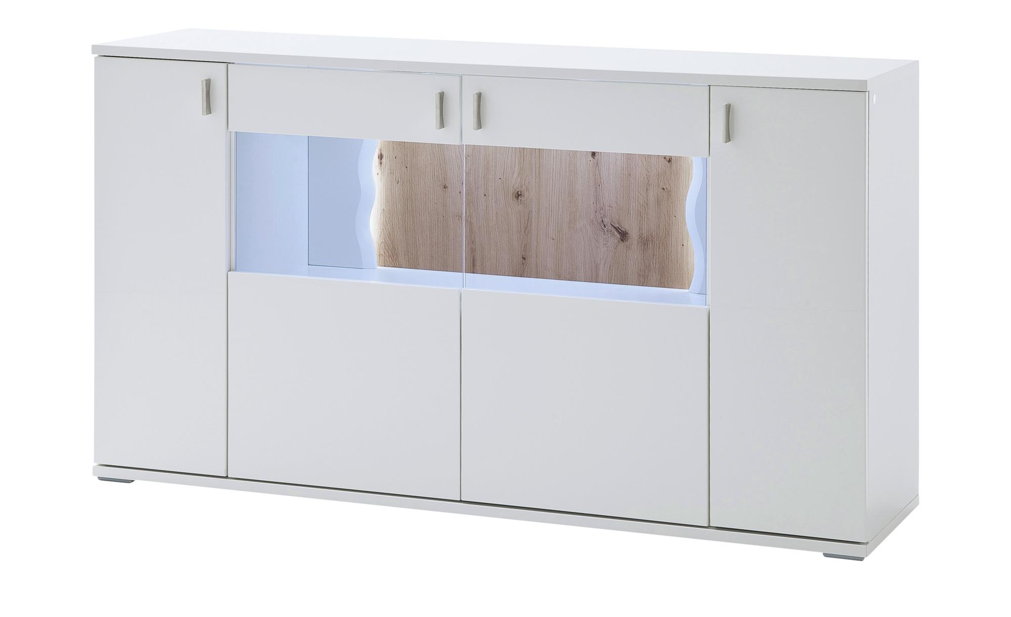 uno Sideboard  Loxor ¦ weiß ¦ Maße (cm): B: 160 H: 92 T: 44 Kommoden & Sideboards > Sideboards - Höffner