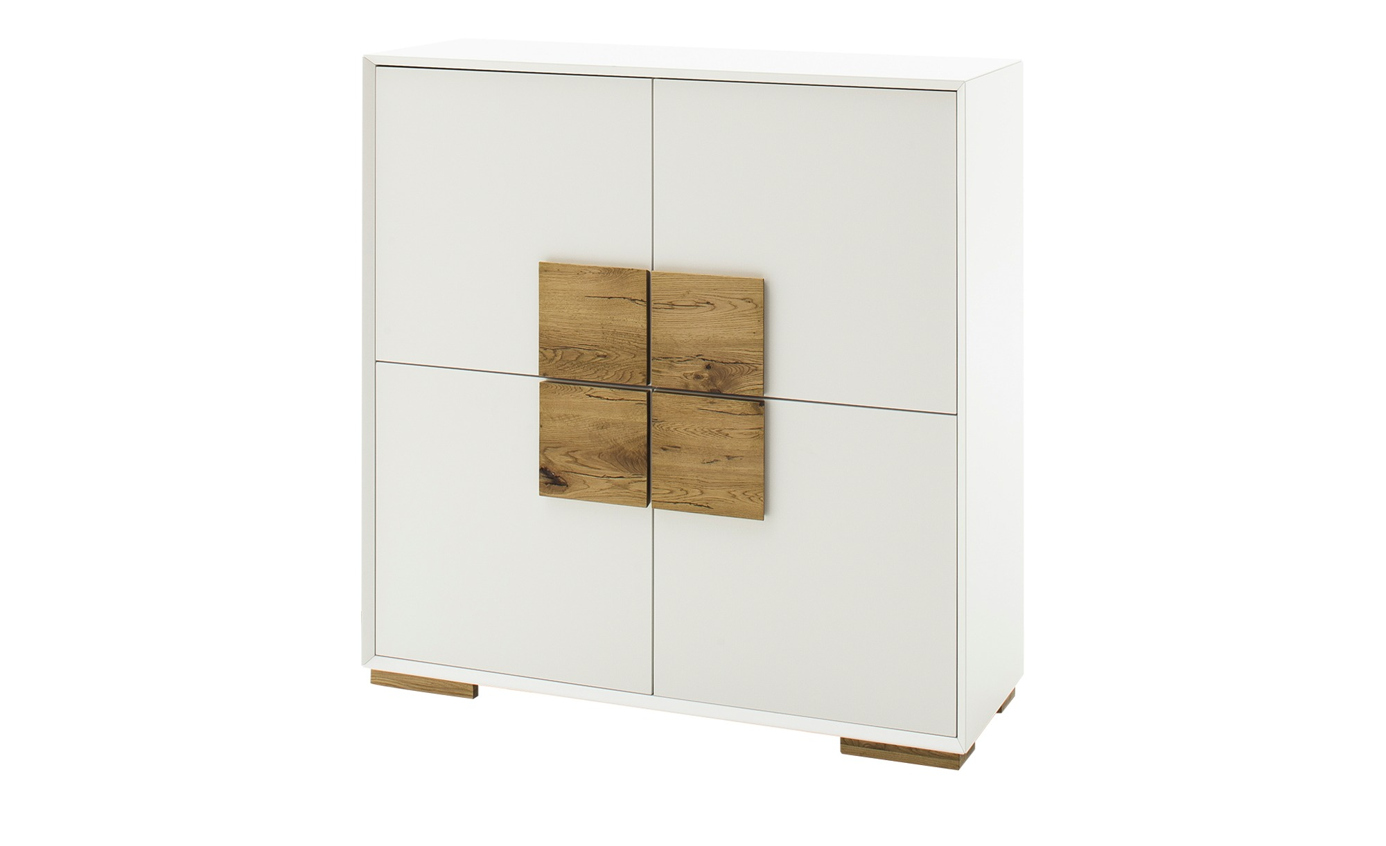 Highboard  Portofino ¦ weiß ¦ Maße (cm): B: 108 H: 112 T: 40 Kommoden & Sideboards > Highboards - Höffner