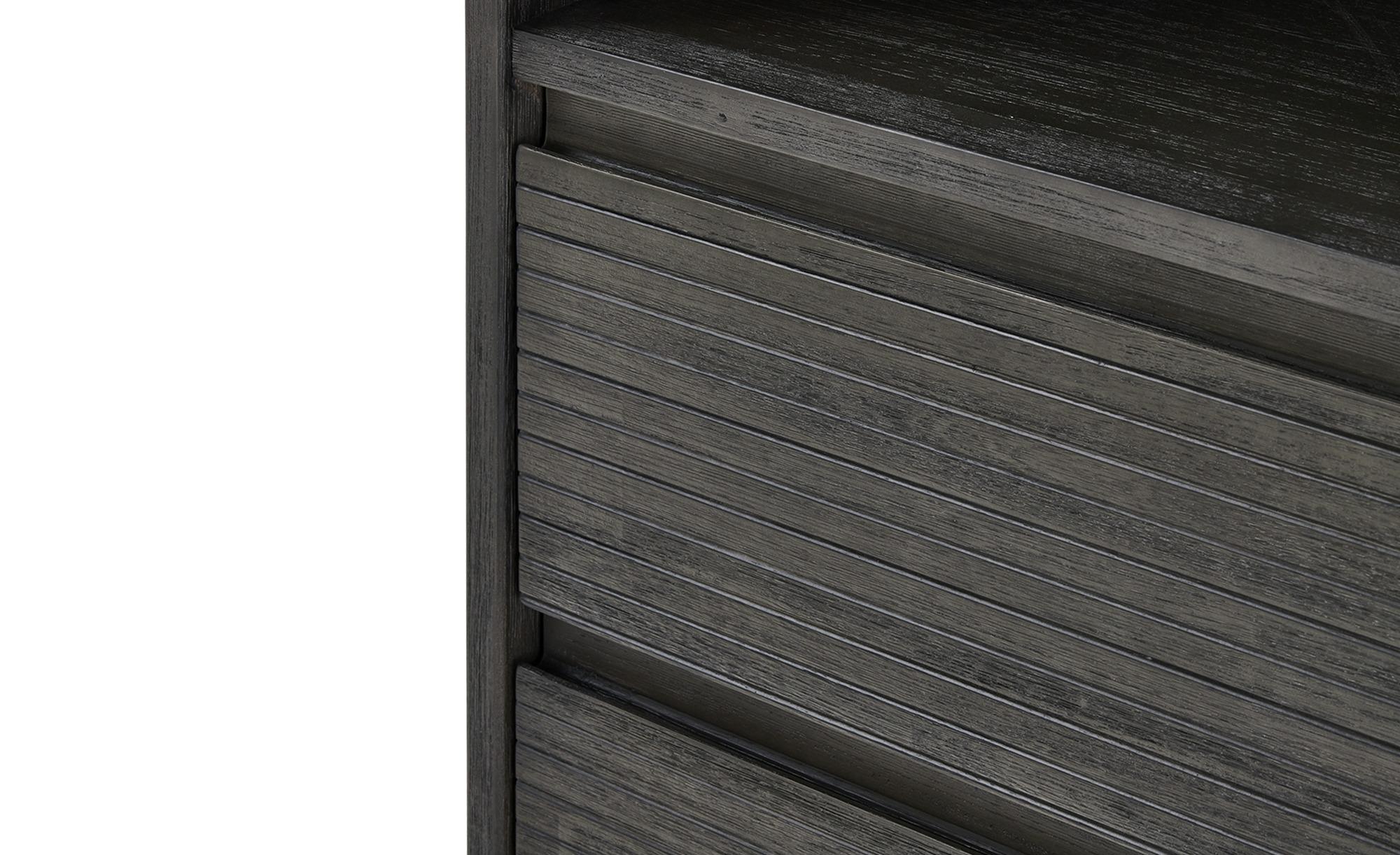 Regal  Campana ¦ grau ¦ Maße (cm): B: 70 H: 170 T: 35 Regale > Bücherregale - Höffner | Wohnzimmer > Regale | Grau | Massivholz | Möbel Höffner DE