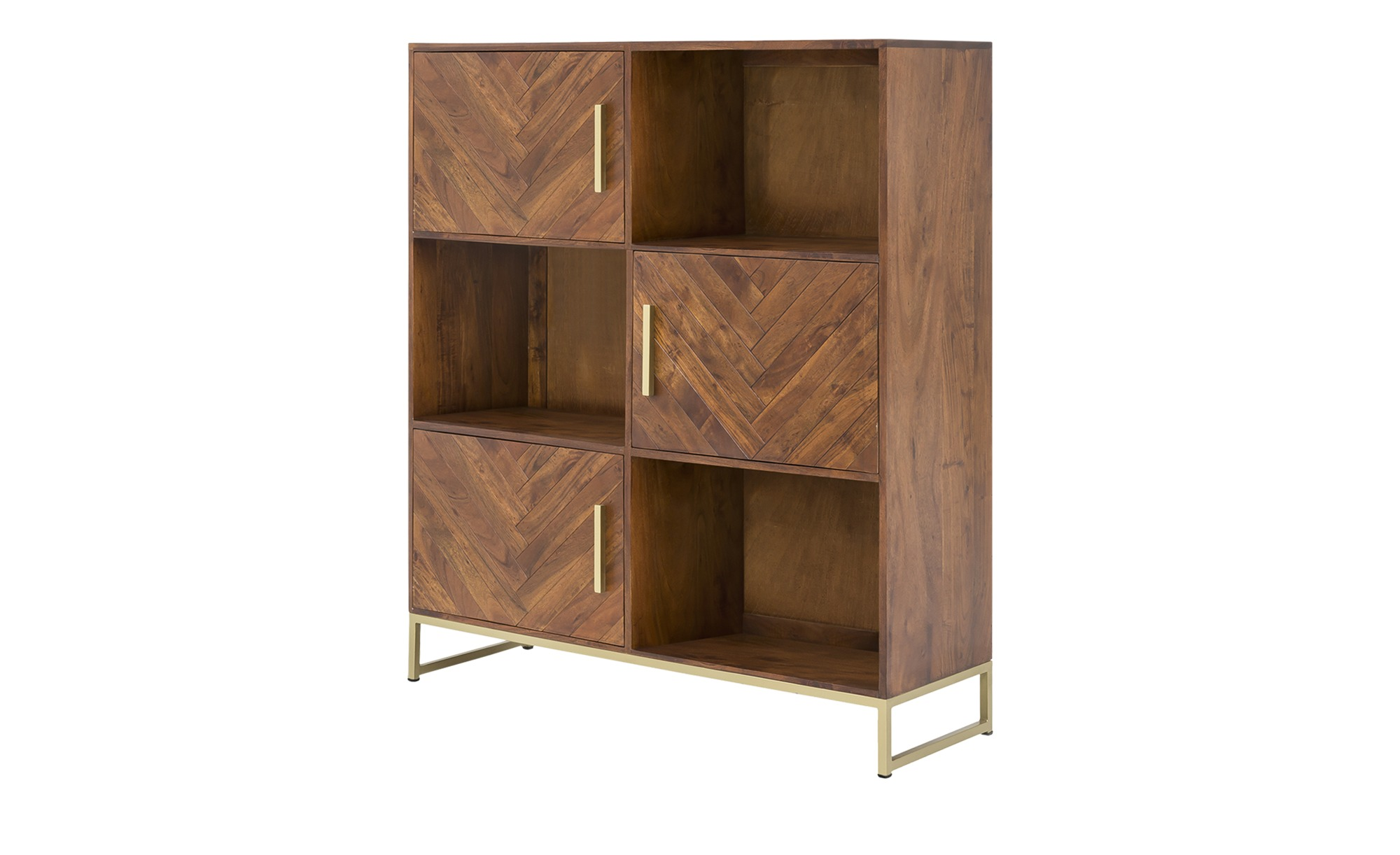 Highboard  Calatria ¦ holzfarben ¦ Maße (cm): B: 120 H: 140 T: 39 Kommoden & Sideboards > Highboards - Höffner