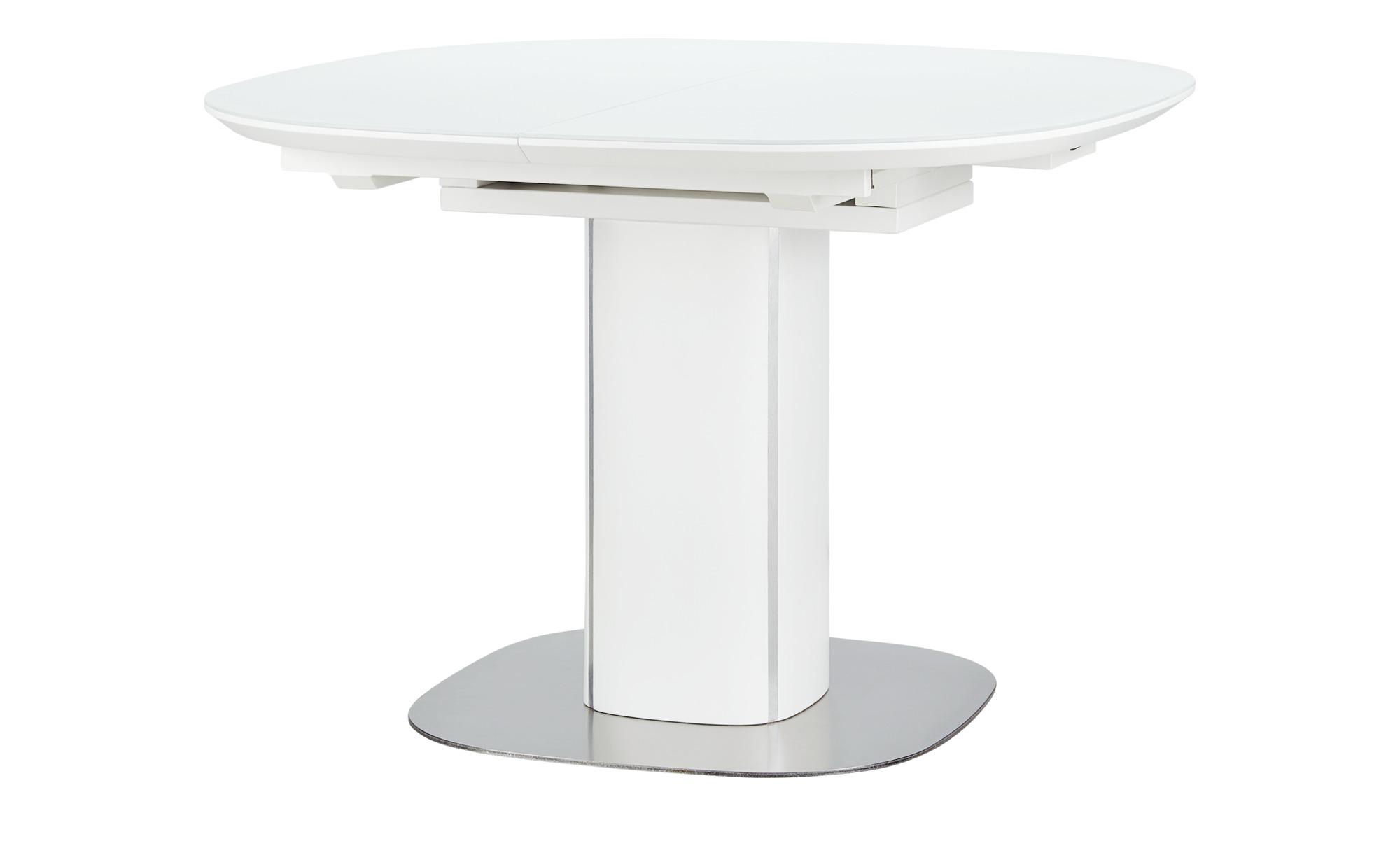 Esstisch  Dave ¦ weiß ¦ Maße (cm): H: 76,5 Ø: [110.0] Tische > Esstische > Esstische rund - Höffner