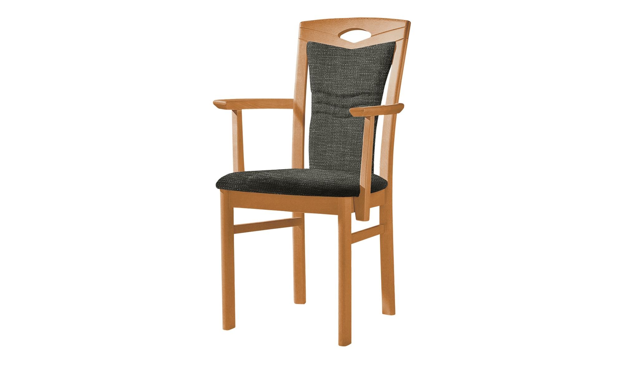 Stuhl  Cristal ¦ grau Stühle > Esszimmerstühle > Esszimmerstühle mit Armlehnen - Höffner | Küche und Esszimmer | Grau | Massivholz - Holz | Möbel Höffner DE