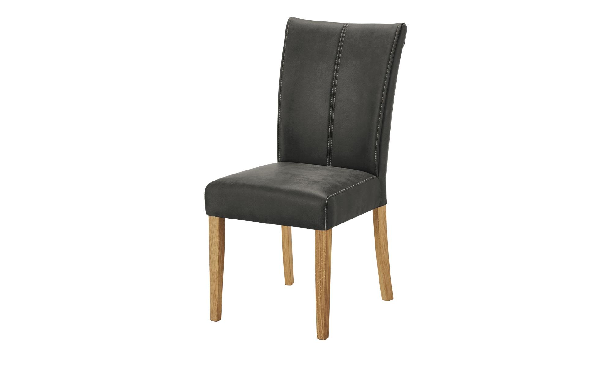 Woodford Stuhl Alina grau 48 cm 97 cm 60,5 cm Stühle > Esszimmerstühle Möbel Kraft