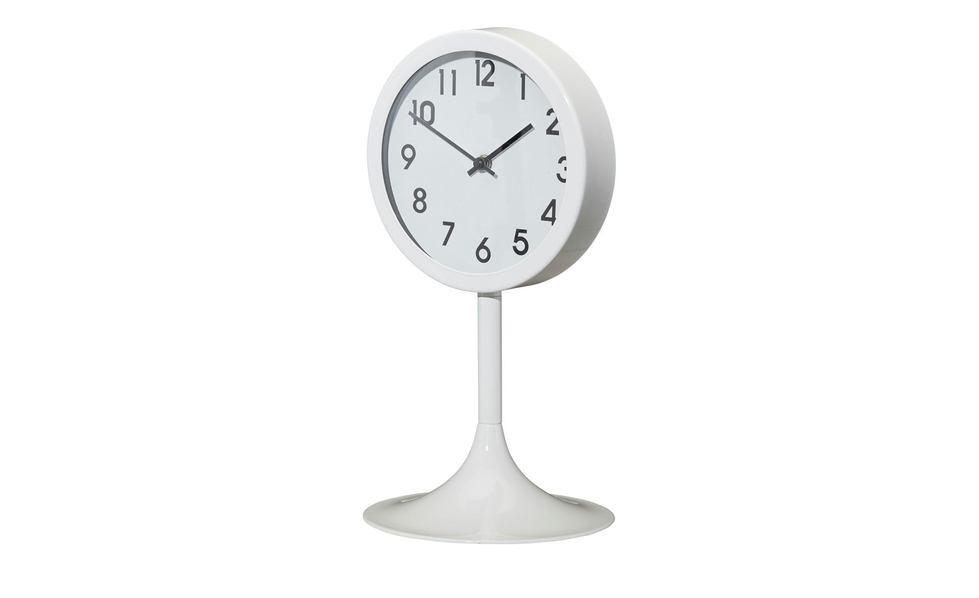Tischuhr weiß  Ben ¦ weiß ¦ Maße (cm): H: 39 Dekoration > Uhren & Wetterstationen - Höffner | Dekoration > Uhren > Standuhren | Weiß | Metall | Möbel Höffner DE