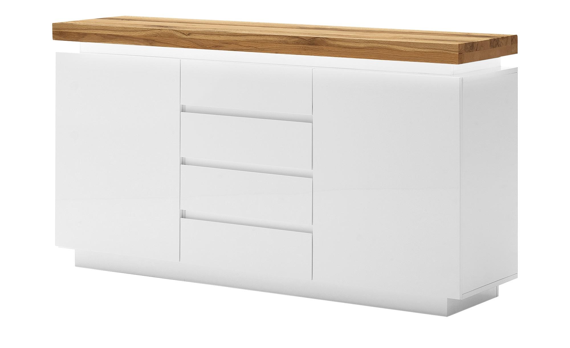 Sideboard  Fornico ¦ weiß ¦ Maße (cm): B: 150 H: 81 T: 40 Kommoden & Sideboards > Sideboards - Höffner