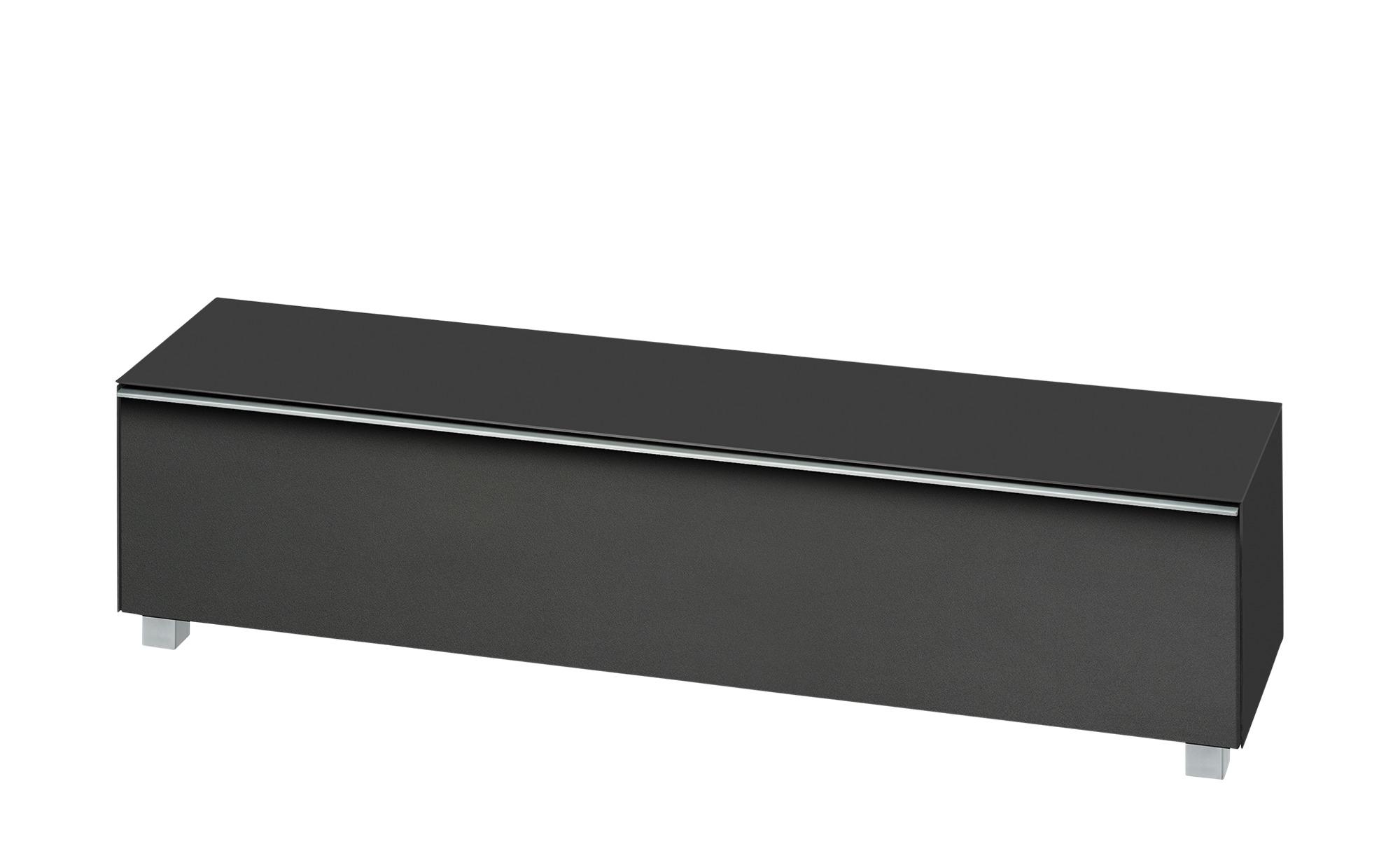 Lowboard  Soundbase L ¦ schwarz ¦ Maße (cm): B: 180 H: 43 T: 42 Kommoden & Sideboards > Lowboards - Höffner