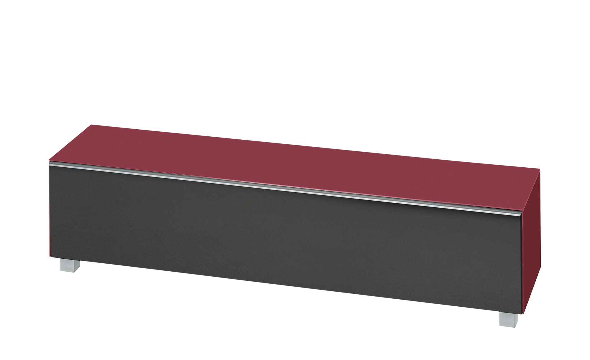 Lowboard  Soundbase L ¦ rot ¦ Maße (cm): B: 180 H: 43 T: 42 Kommoden & Sideboards > Lowboards - Höffner