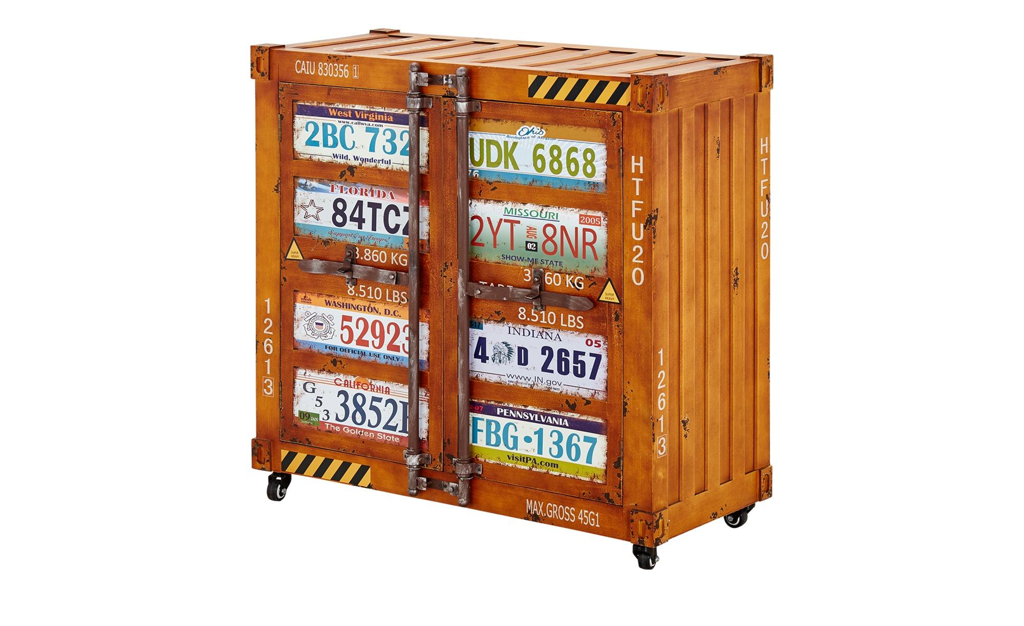Kommode im Containerdesign  Paola ¦ braun ¦ Maße (cm): B: 88 H: 86 T: 38 Kommoden & Sideboards > Kommoden - Höffner