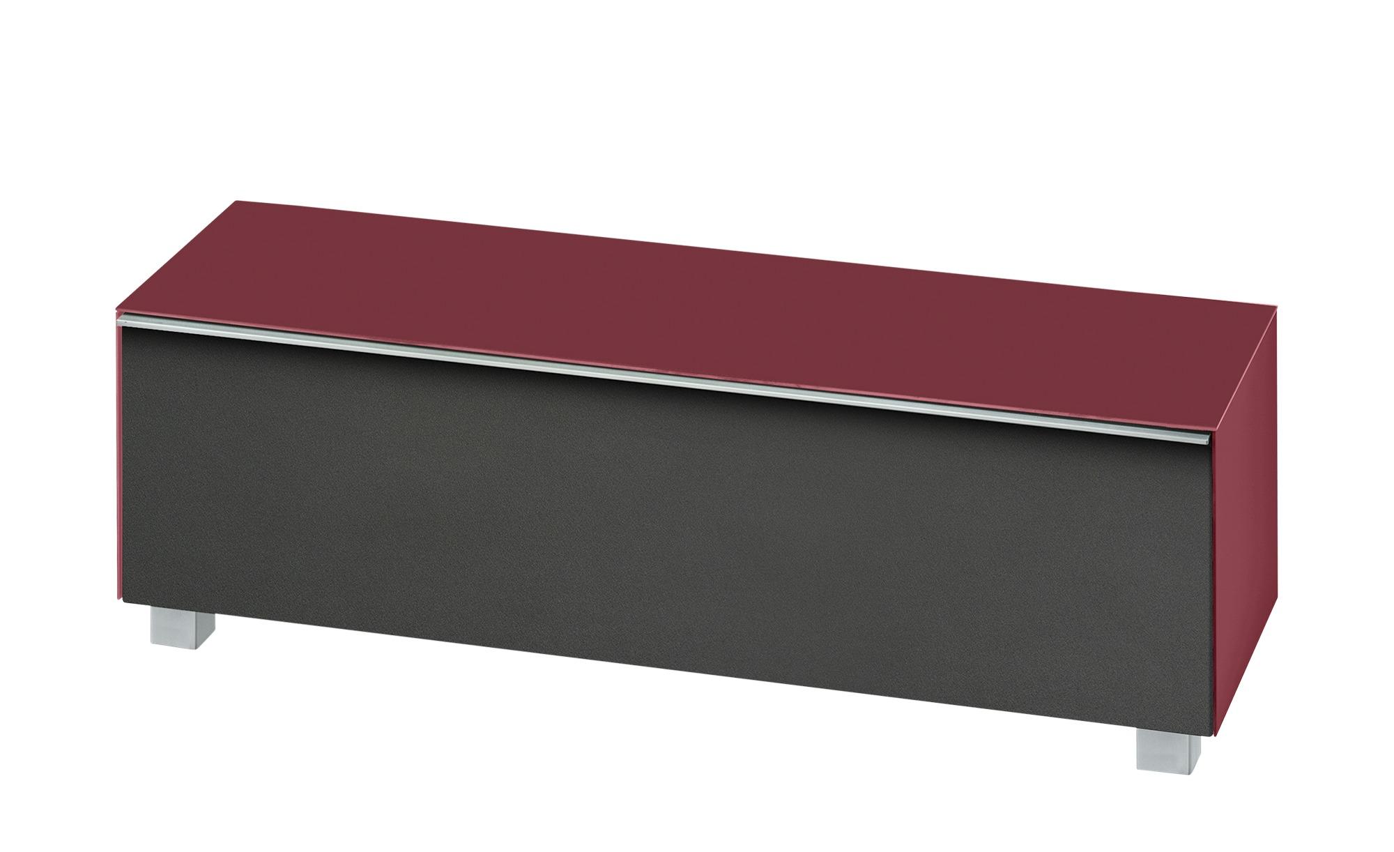 Lowboard  Soundbase S ¦ rot ¦ Maße (cm): B: 140 H: 43 T: 42 Kommoden & Sideboards > Lowboards - Höffner