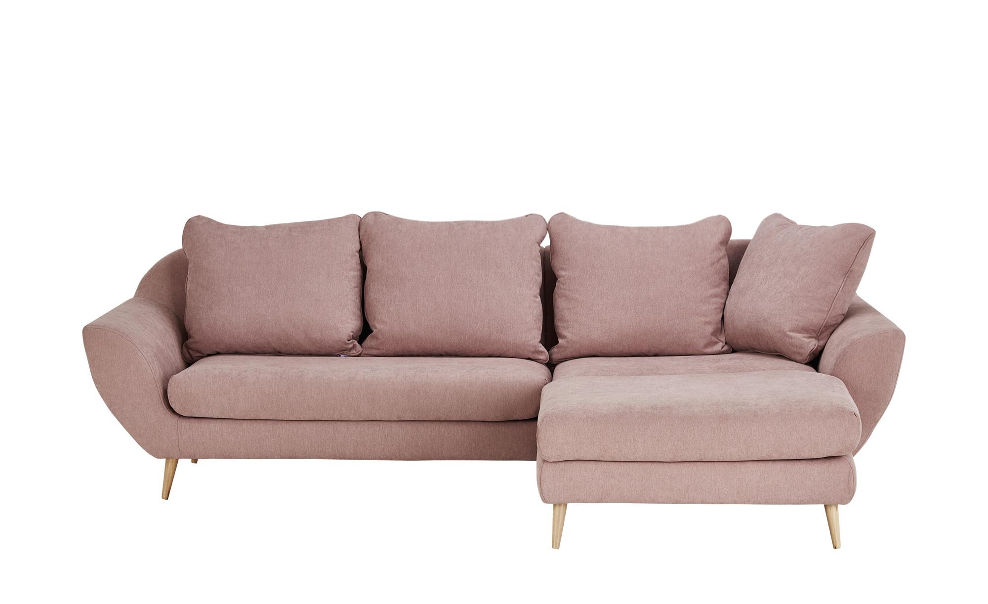 Ecksofa  Monaco ¦ rosa/pink ¦ Maße (cm): B: 274 T: 180 Polstermöbel > Sofas > Einzelsofas - Höffner