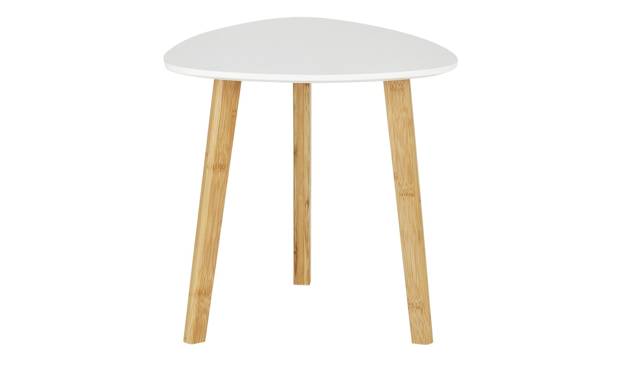 Beistelltisch  Bamboo ¦ weiß ¦ Maße (cm): B: 40 H: 40 Tische > Beistelltische > Beistelltische ohne Rollen - Höffner