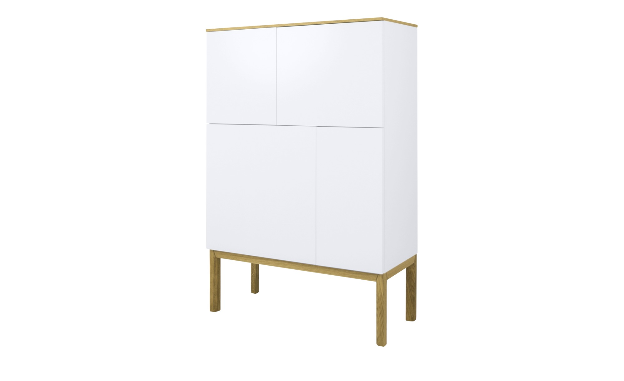 Highboard   Loi ¦ weiß ¦ Maße (cm): B: 92 H: 138 T: 40 Kommoden & Sideboards > Kommoden - Höffner