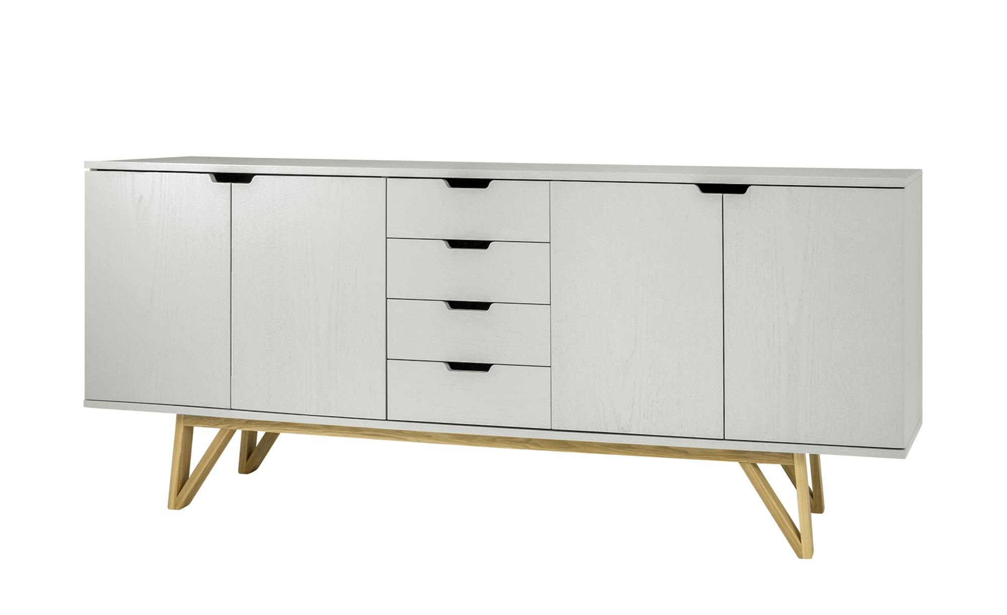 Sideboard  Lorens ¦ grau ¦ Maße (cm): B: 198 H: 85 T: 45 Kommoden & Sideboards > Sideboards - Höffner