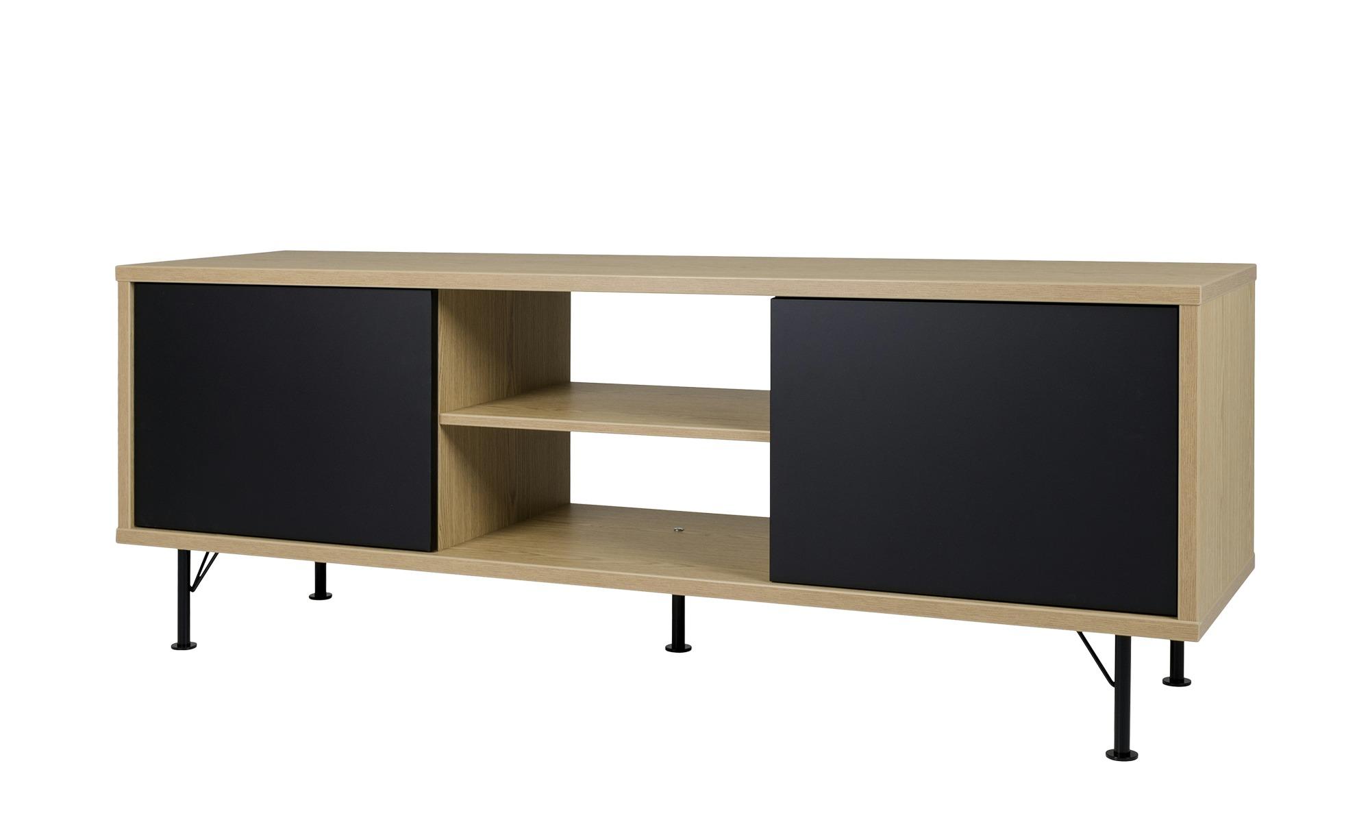 TV-Lowboard   Malte ¦ schwarz ¦ Maße (cm): B: 164 H: 60 T: 44 TV- & Media Möbel > TV-Schränke - Höffner